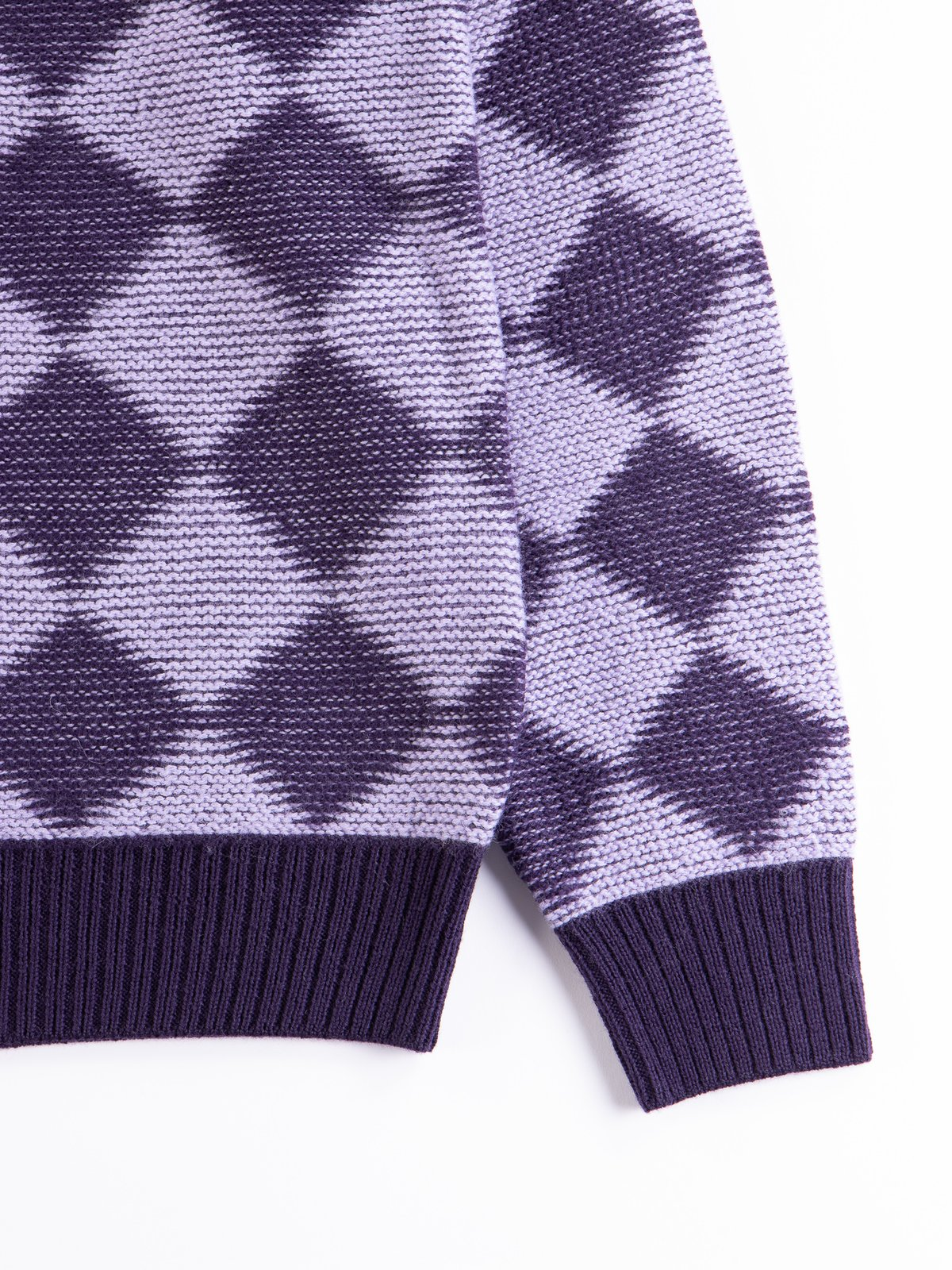 Purple Checkered Polo Sweater - Image 4