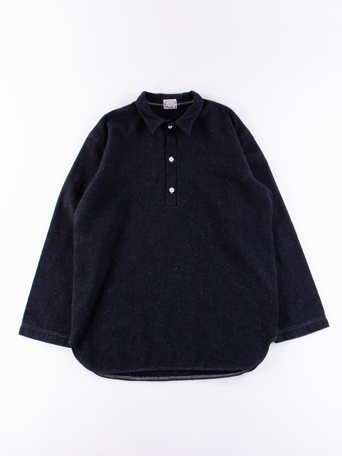 Navy Weavers Stock Pullover Tail Shirt - Image 1