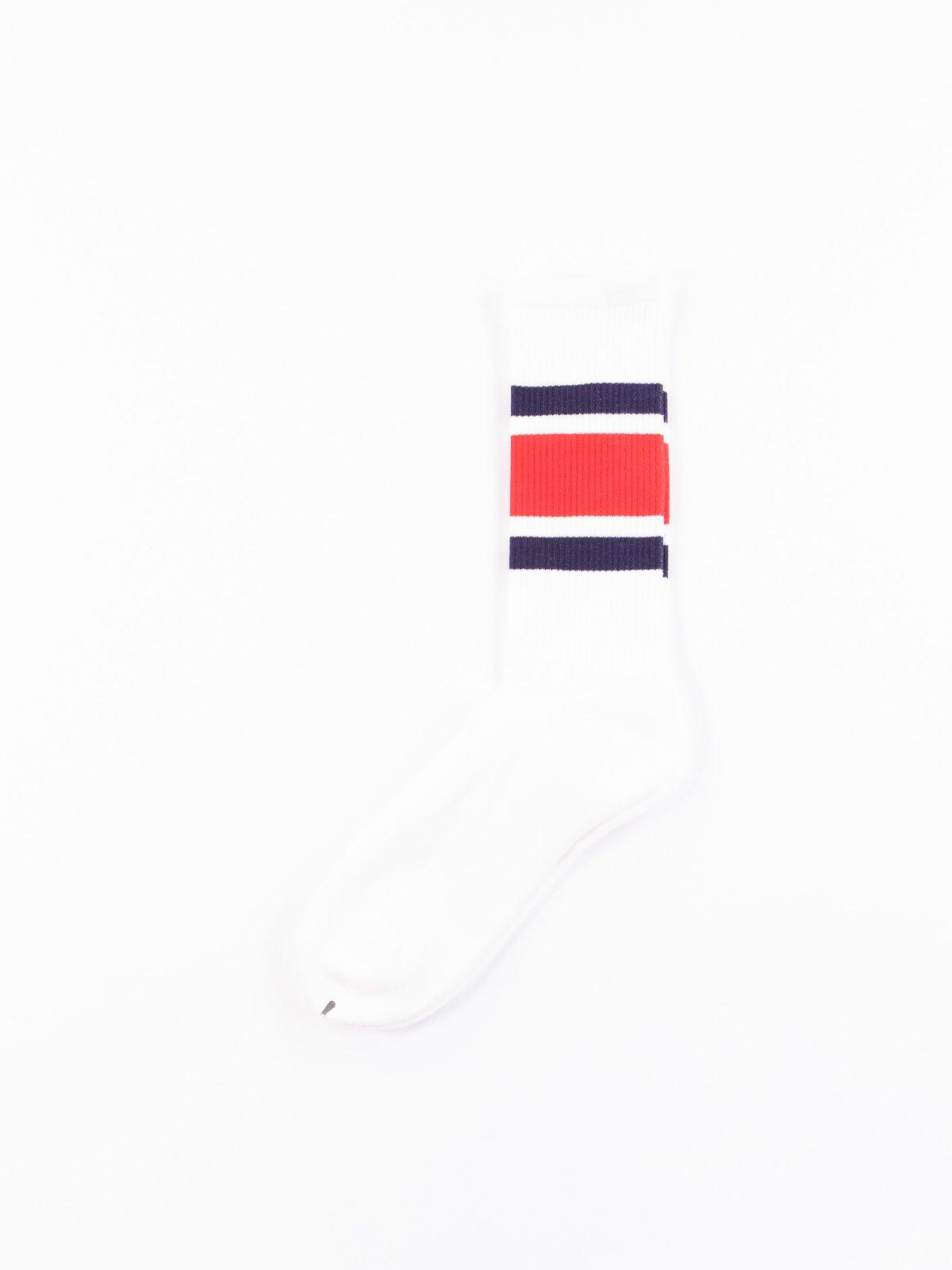 Navy/Red New School Socks - Image 1