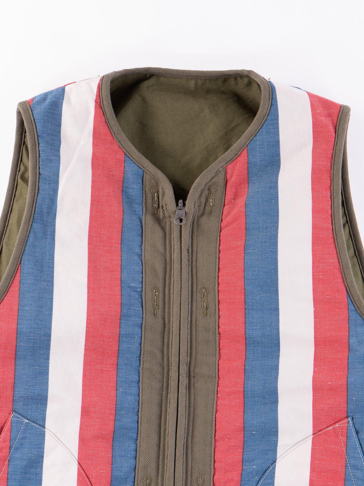 Olive Iris Cotton Liner Vest - Image 8