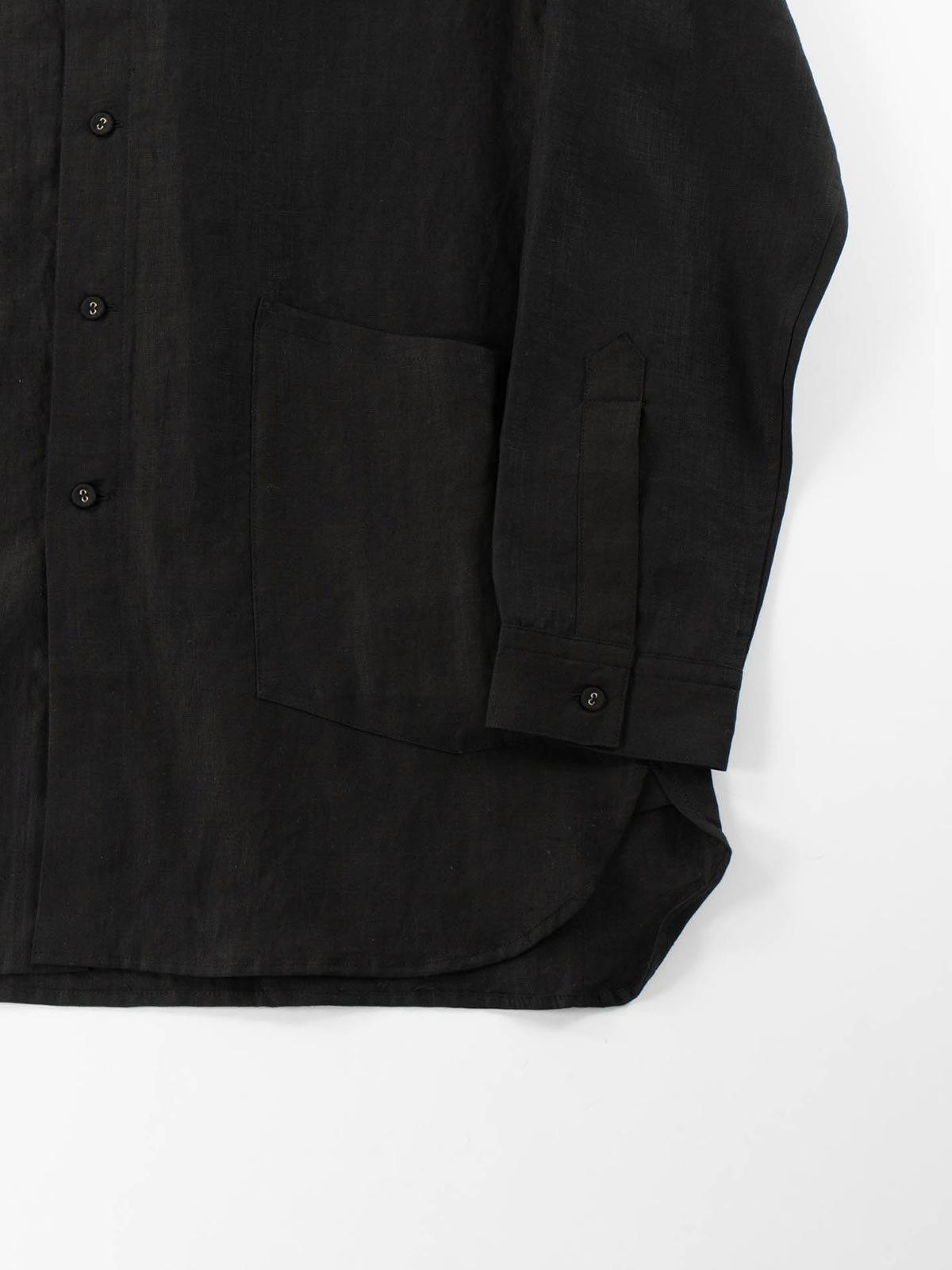 LINEN GARDNER SHIRT BLACK - Image 4