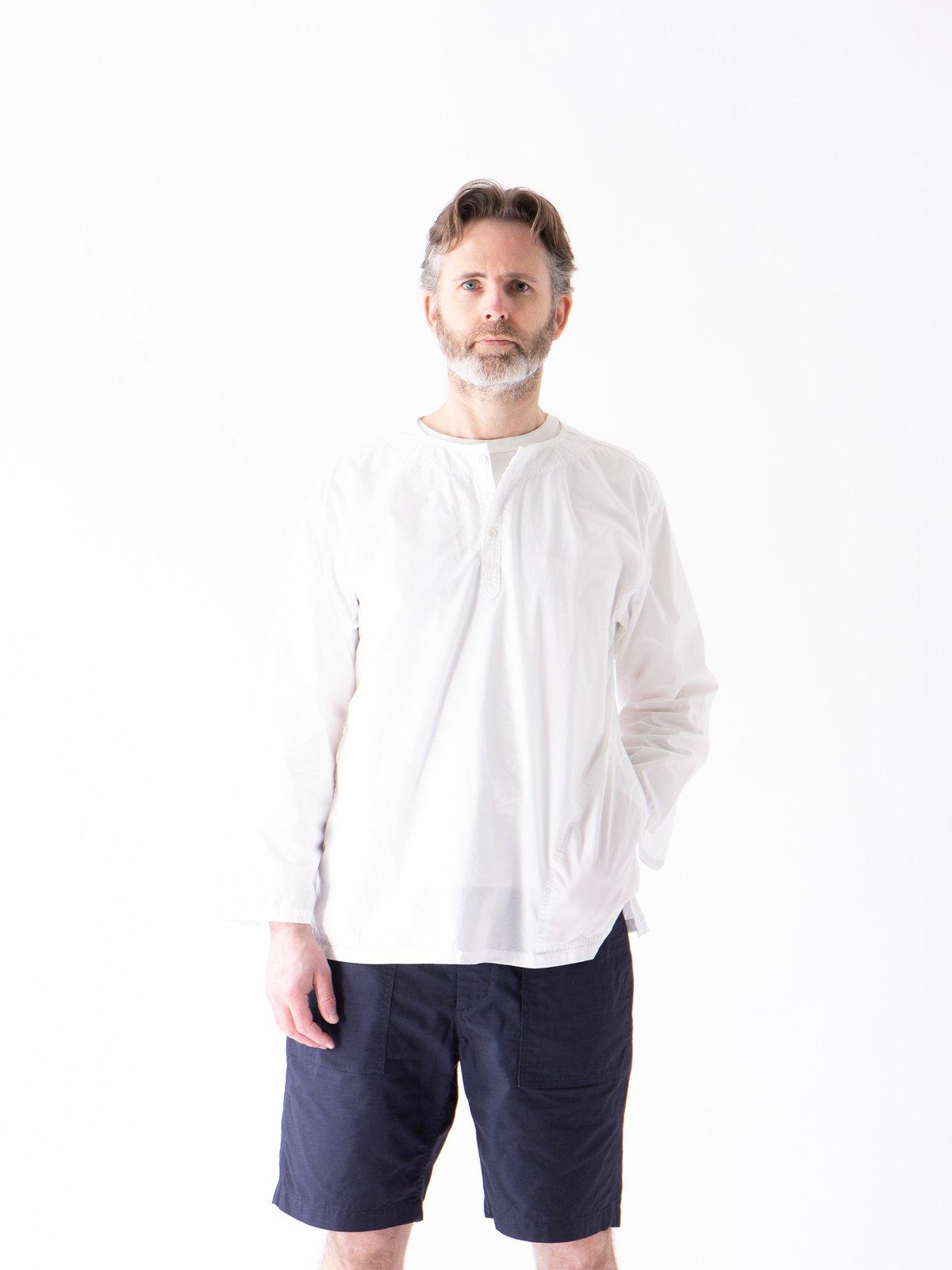 White Poplin Pullover Shirt - Image 2