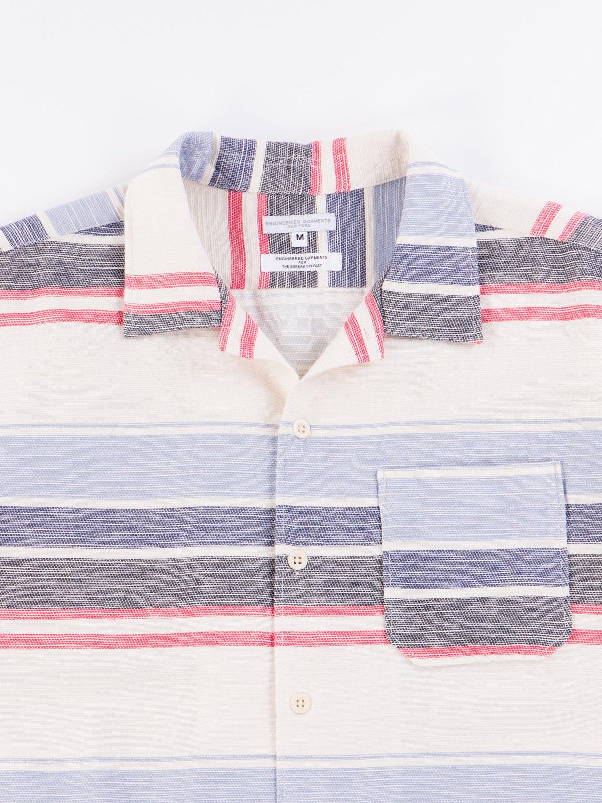Natural/Red/Blue Horizontal Slab Camp Shirt - Image 3