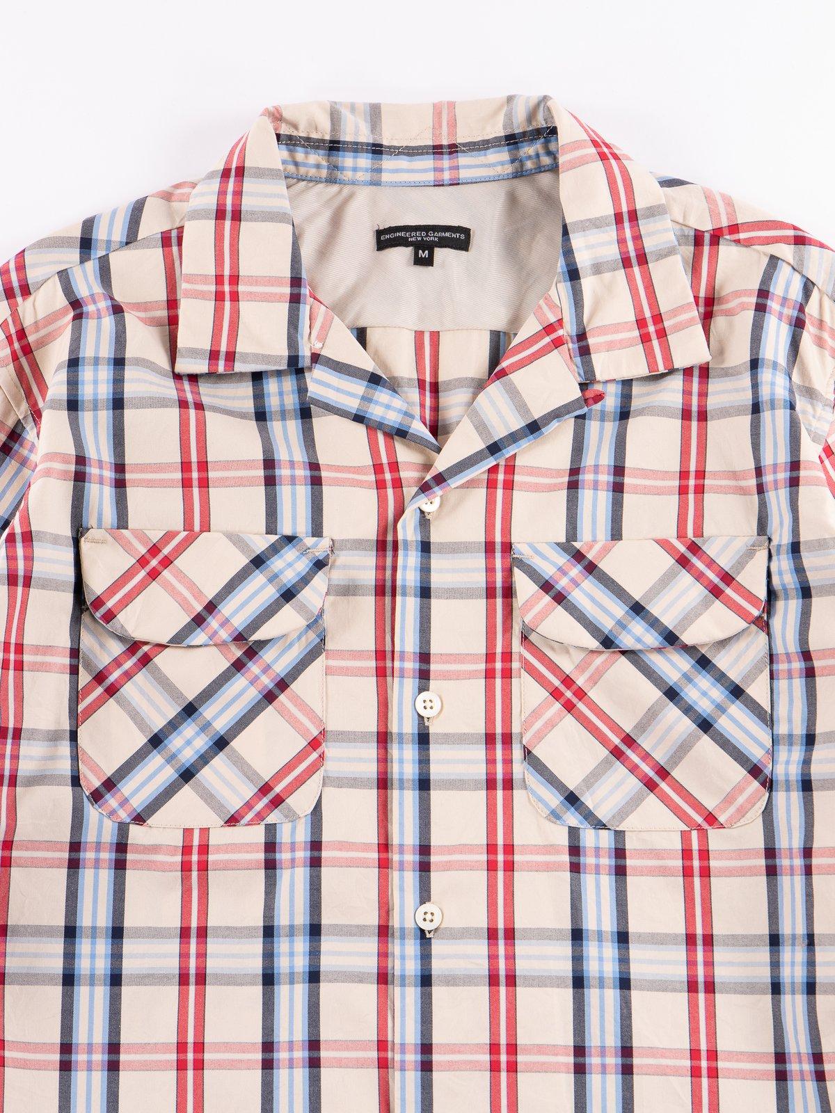 Khaki/Red/Blue Plaid Classic Shirt - Image 3