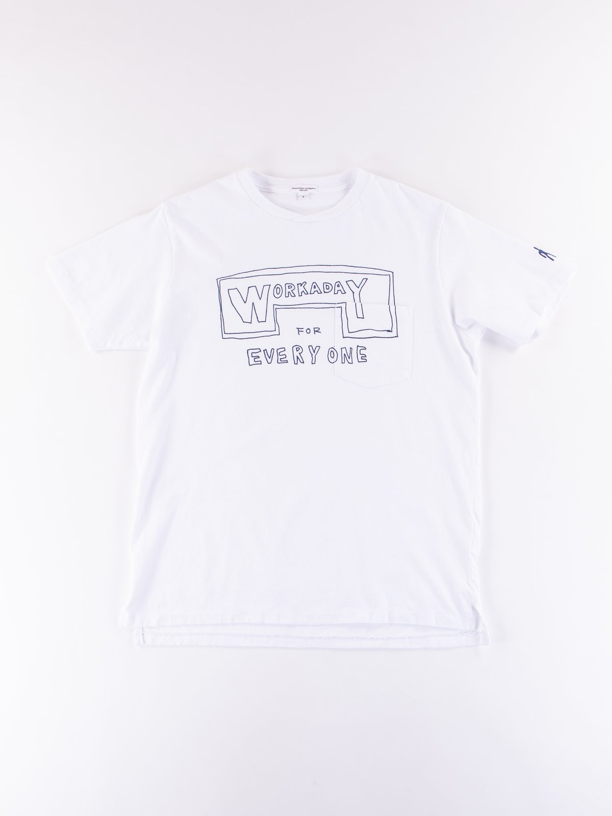 White Everyone Crossover Crew Pocket Tee - Image 1