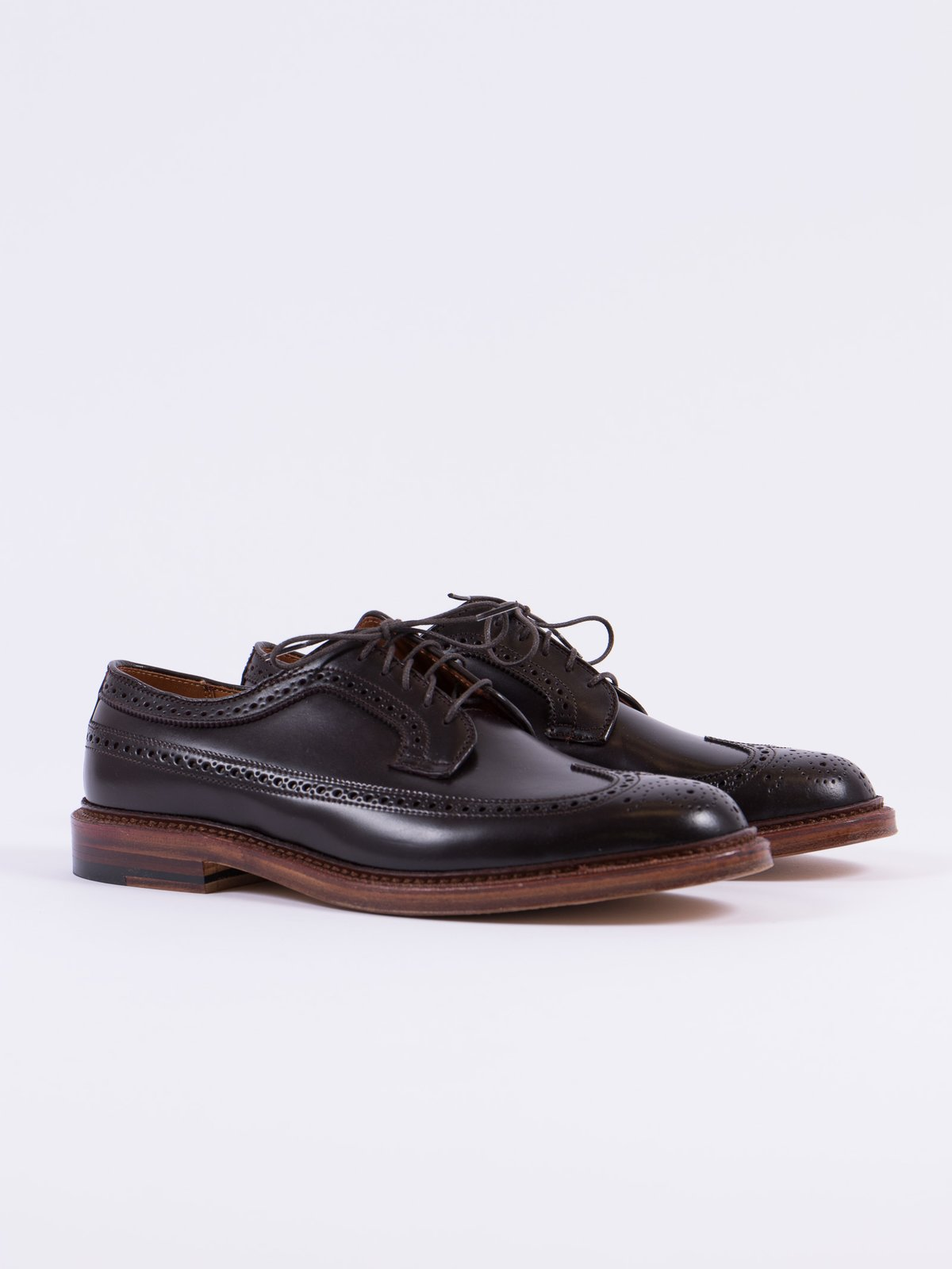 Color 8 Cordovan Long Wing Blucher - Image 1