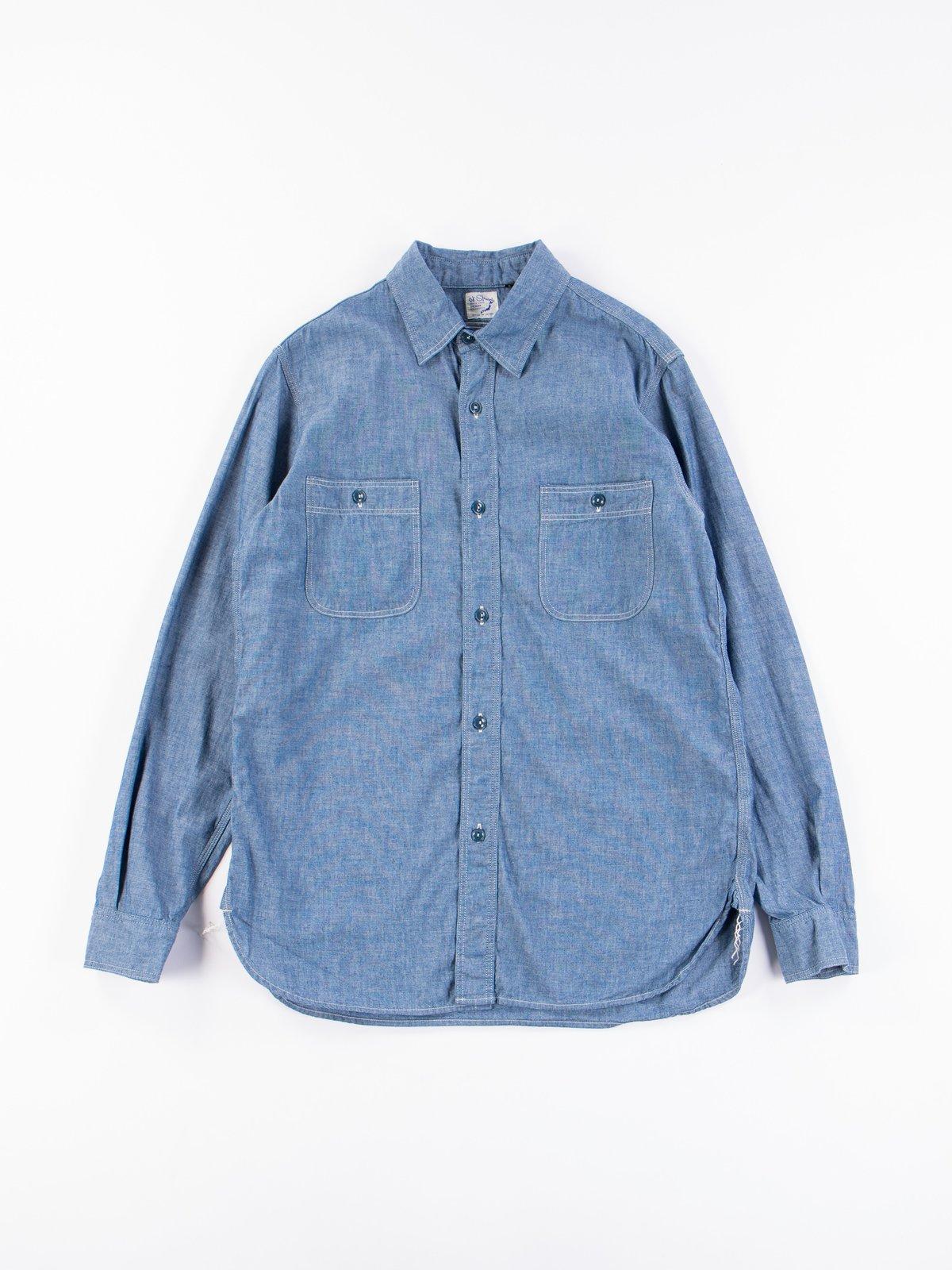 Blue Chambray Work Shirt - Image 1