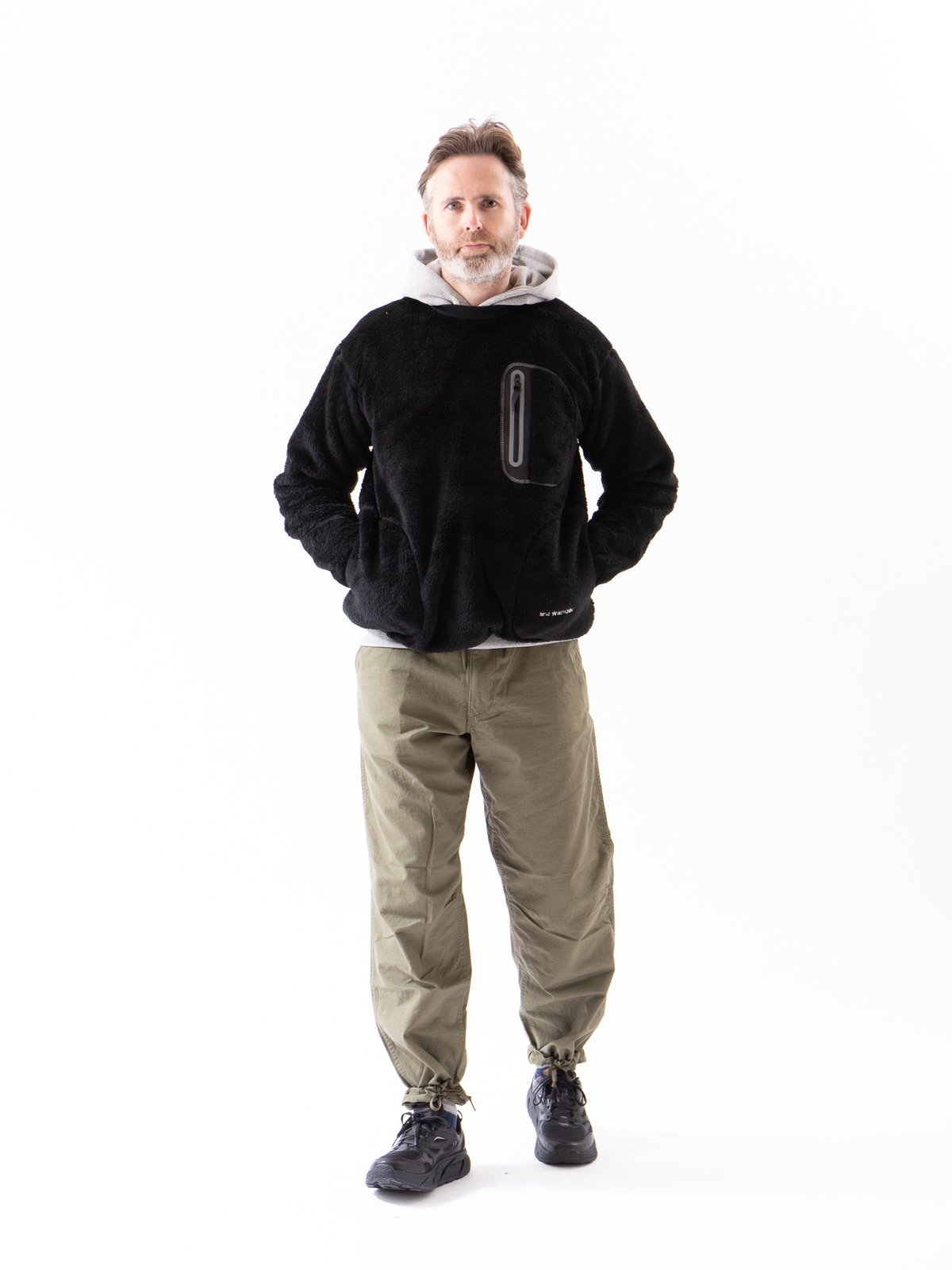 Black High Loft Fleece Pullover - Image 3