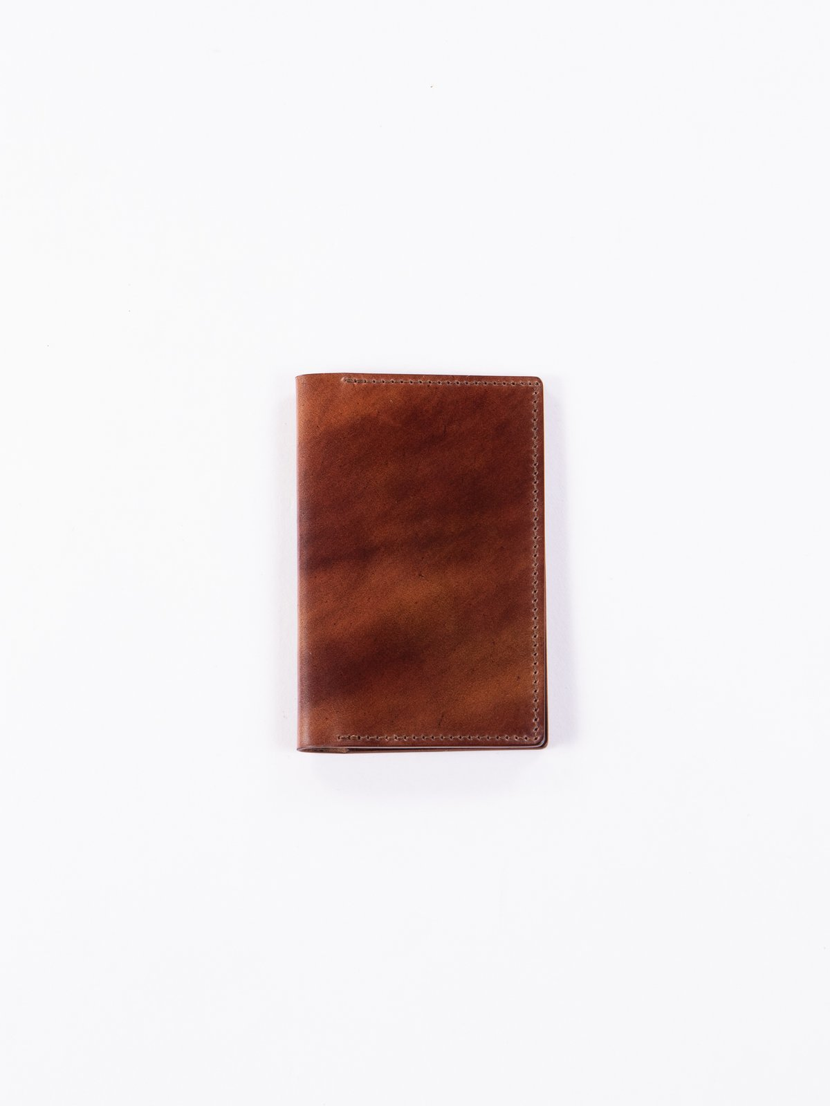 Washed Color 8 Horween Cordovan 1–1 Card Case - Image 1