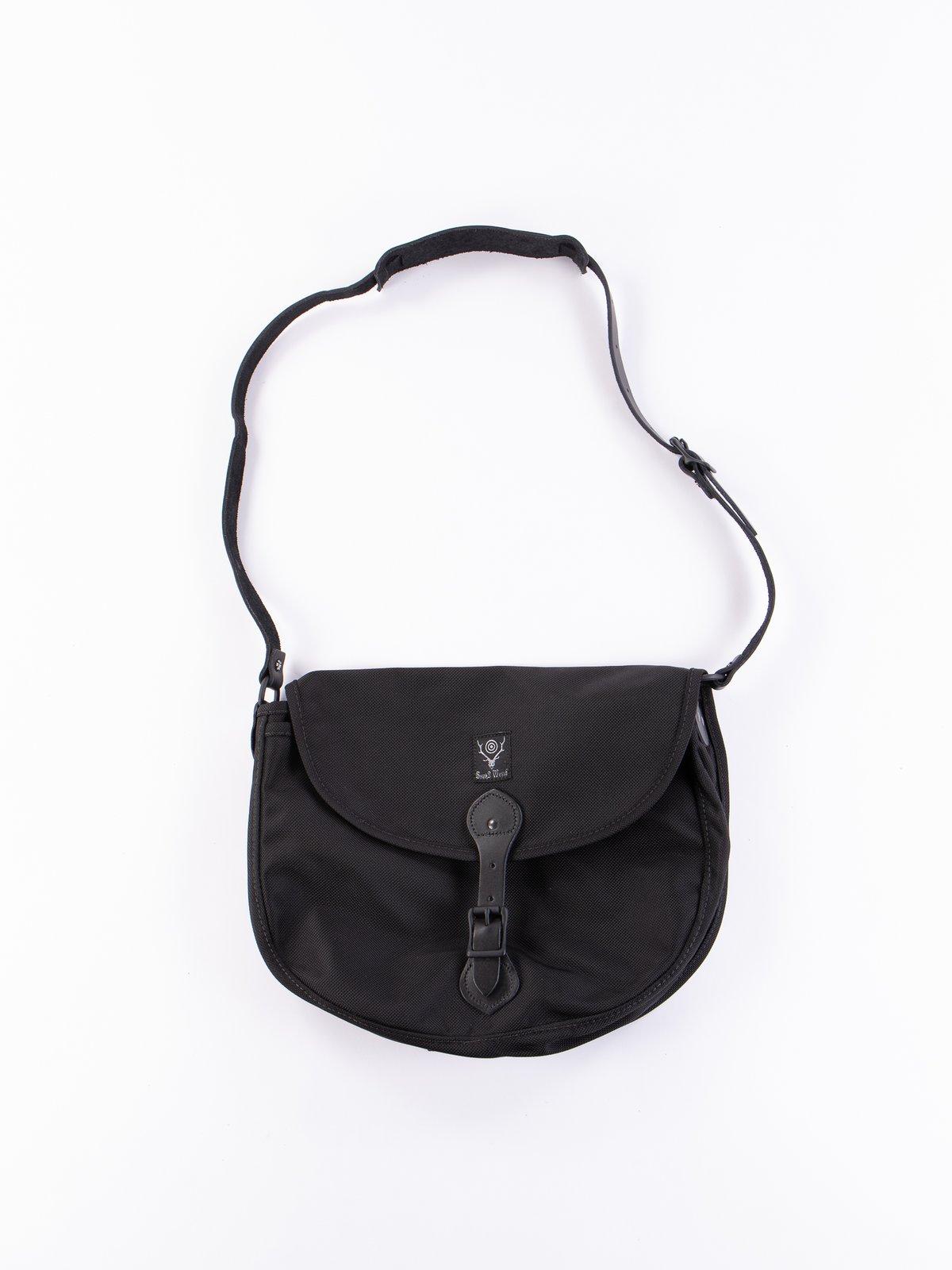 Black Large Ballistic Nylon Binocular Bag - Image 1