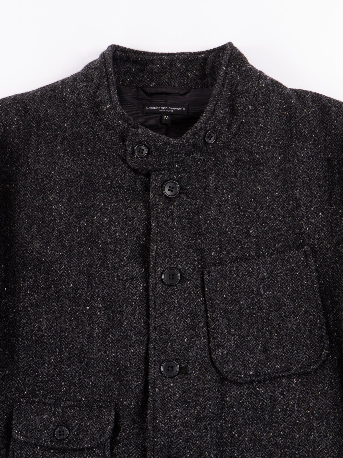 Charcoal HB Tweed Grim Jacket - Image 4