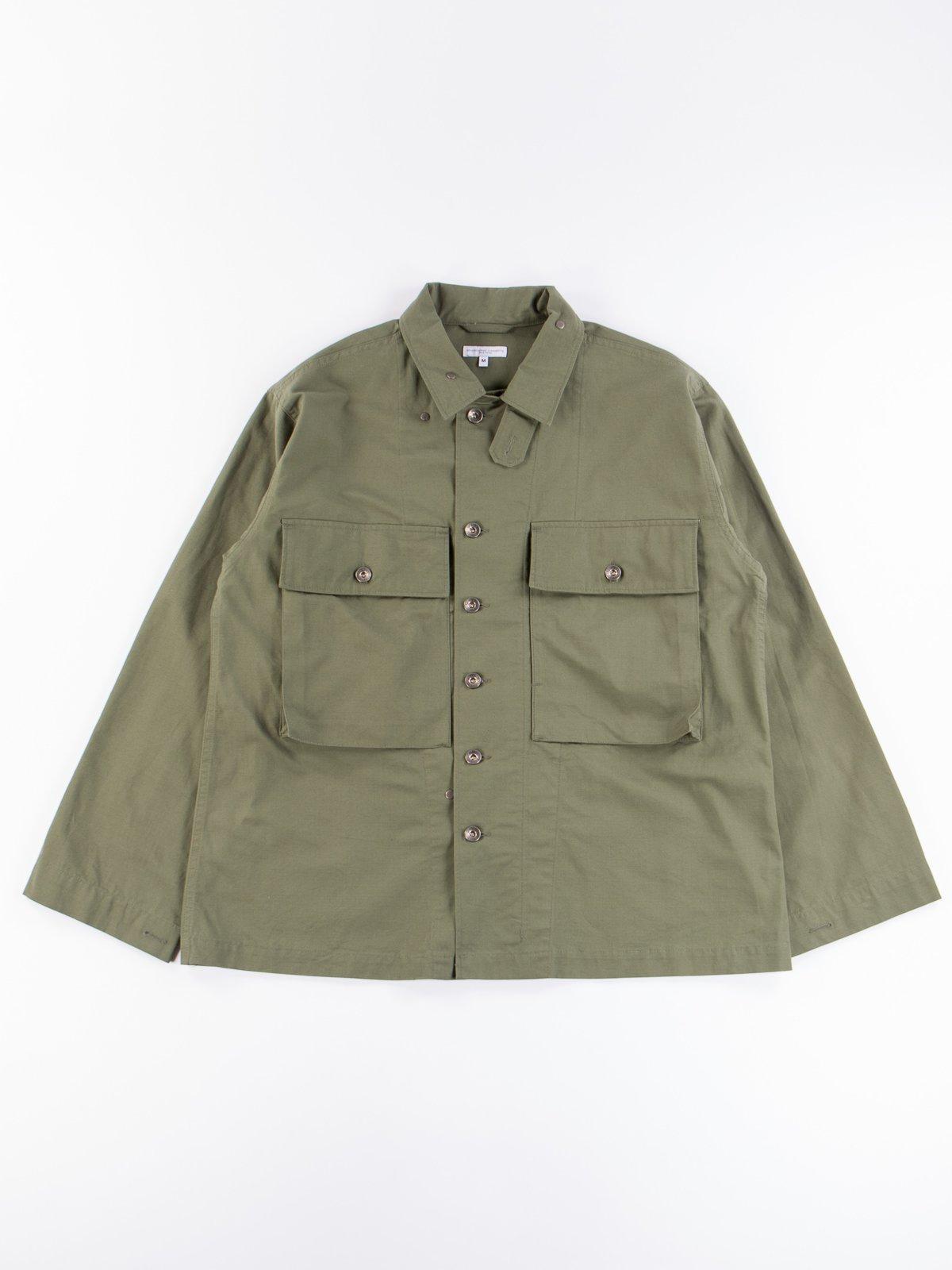 Olive Cotton Ripstop M43/2 Shirt Jacket - Image 1