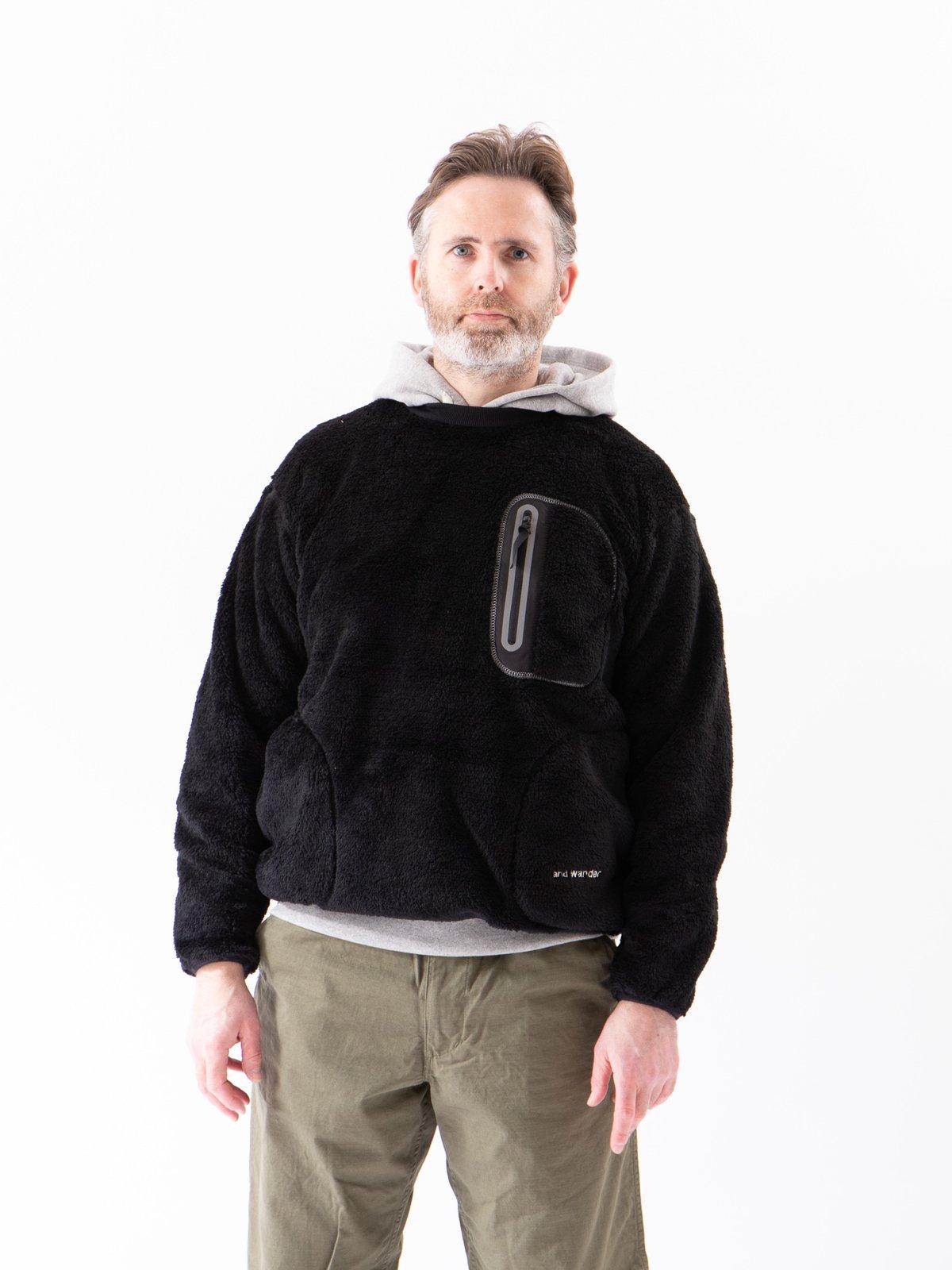 Black High Loft Fleece Pullover - Image 2