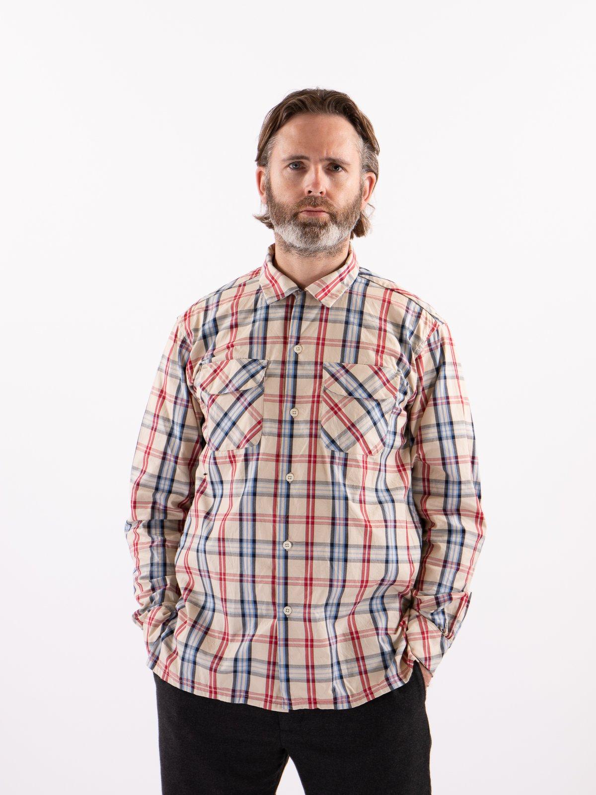 Khaki/Red/Blue Plaid Classic Shirt - Image 2