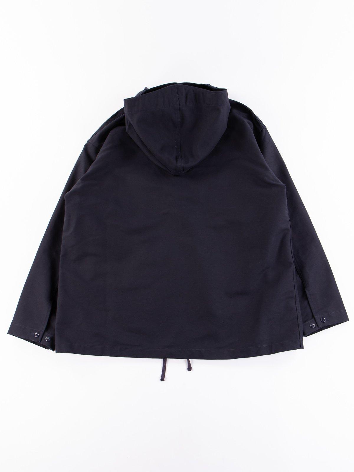 Navy Cotton Double Cloth Cagoule Shirt - Image 7
