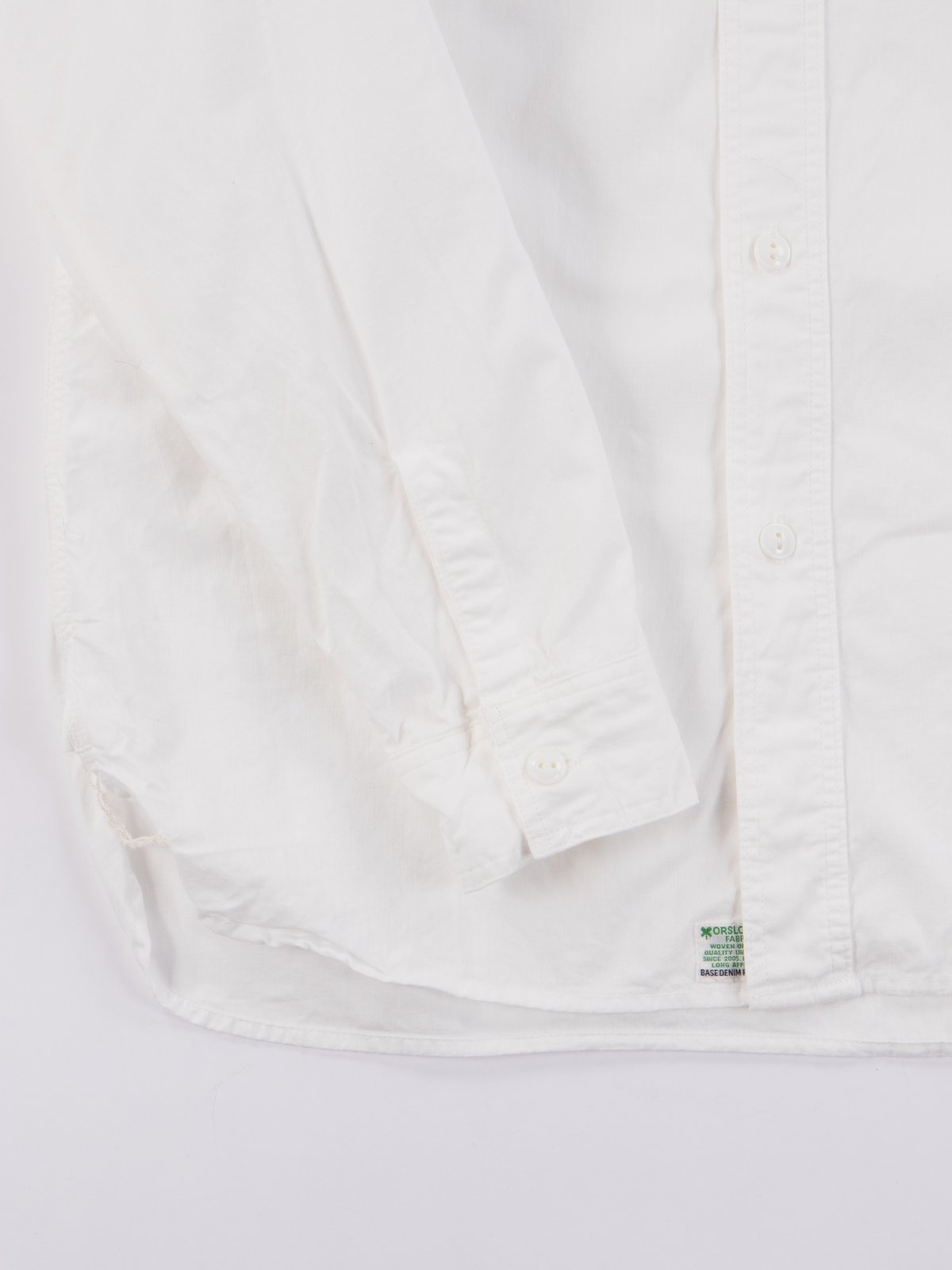 White Chambray Work Shirt - Image 4