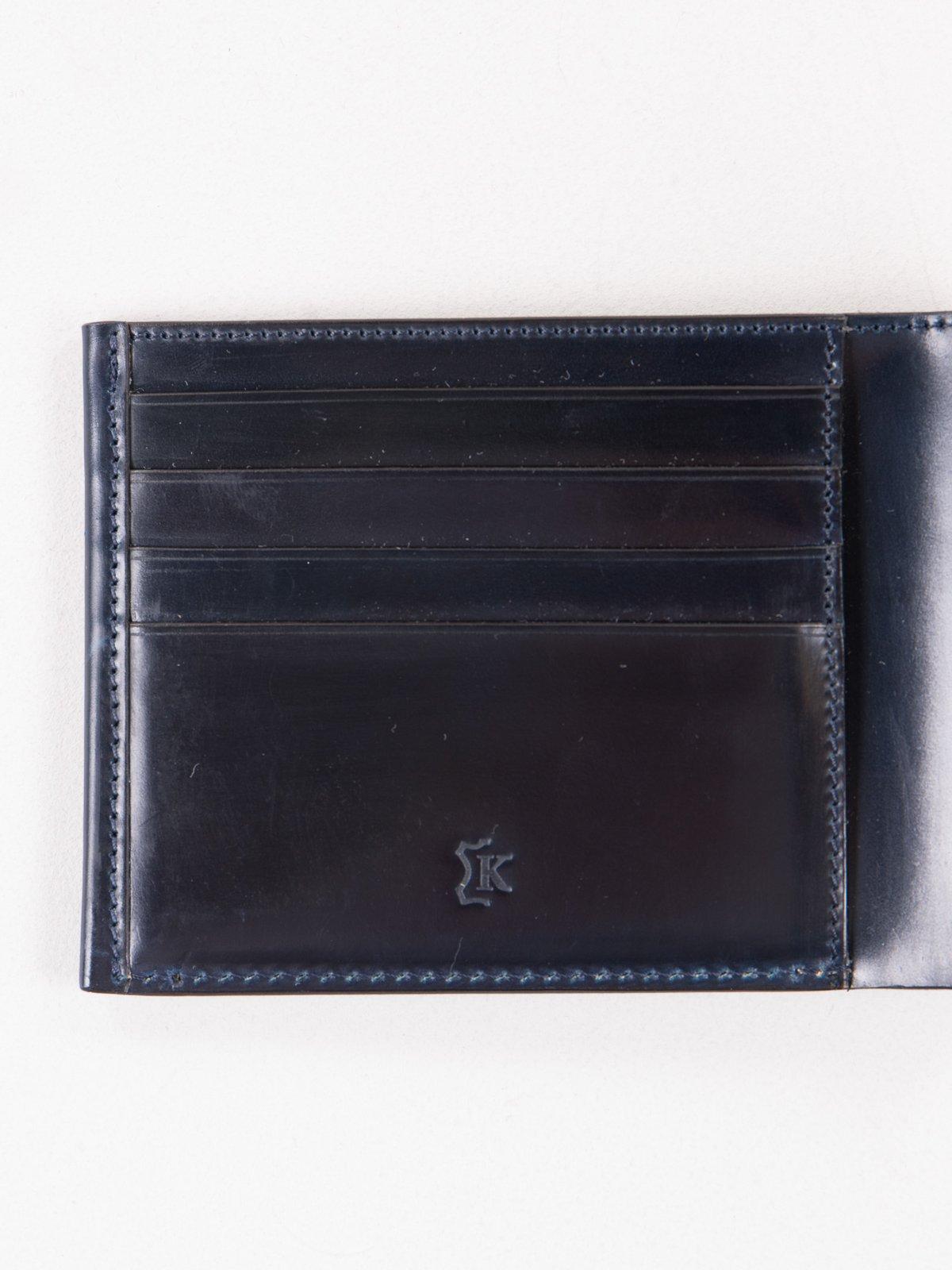 Navy Horween Cordovan 4–4 Wallet - Image 3