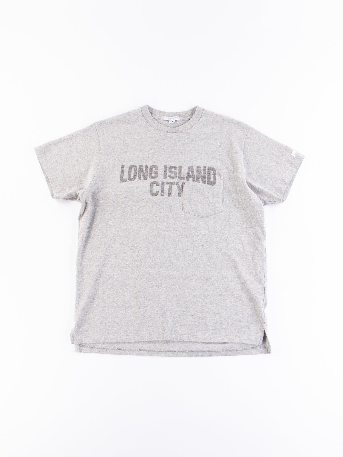 Long Island Bureau.Grey Long Island City Printed T Shirt By Engineered Garments The
