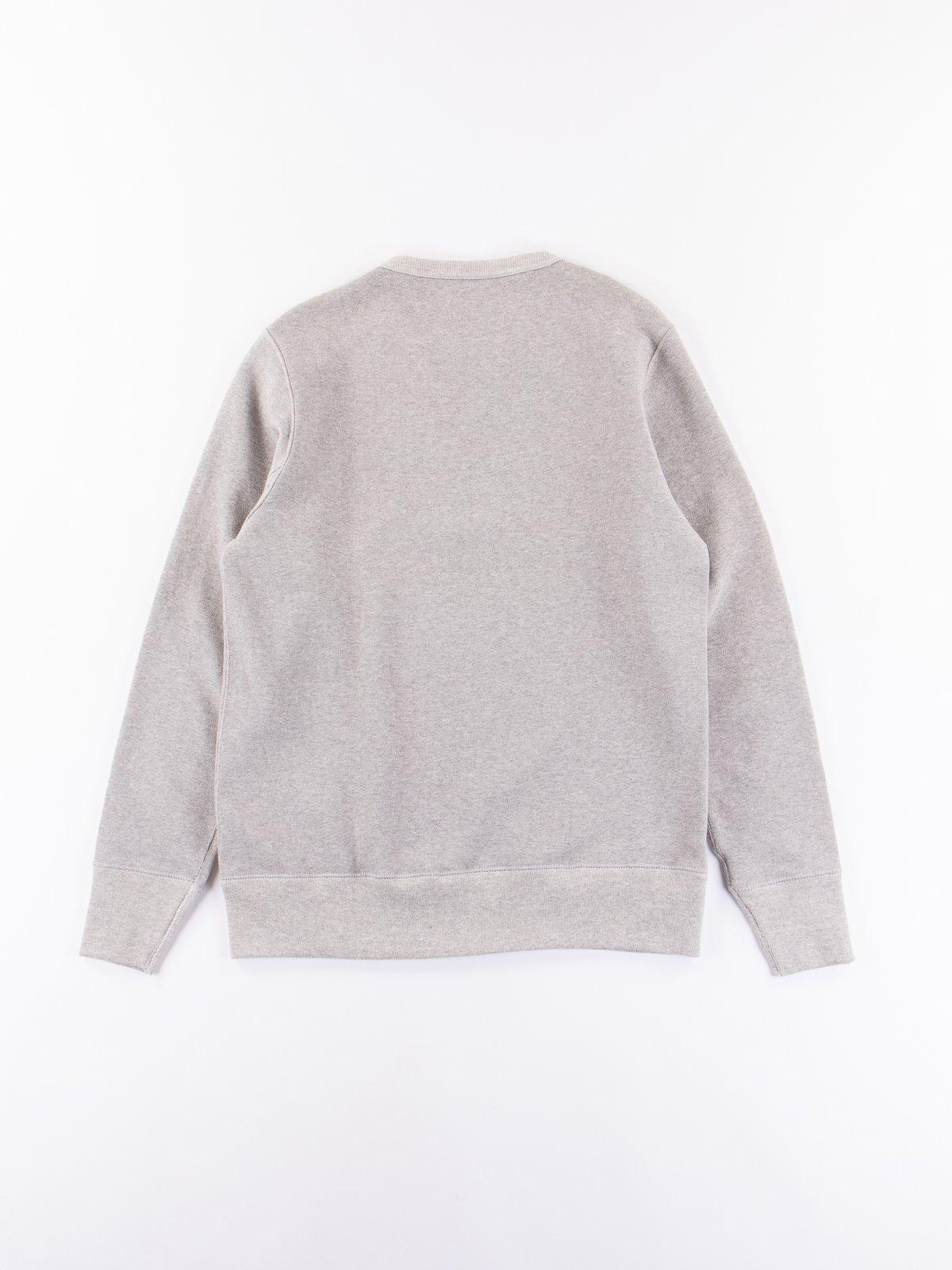 Grey Melange 3S48 Organic Cotton Heavy Sweater - Image 5