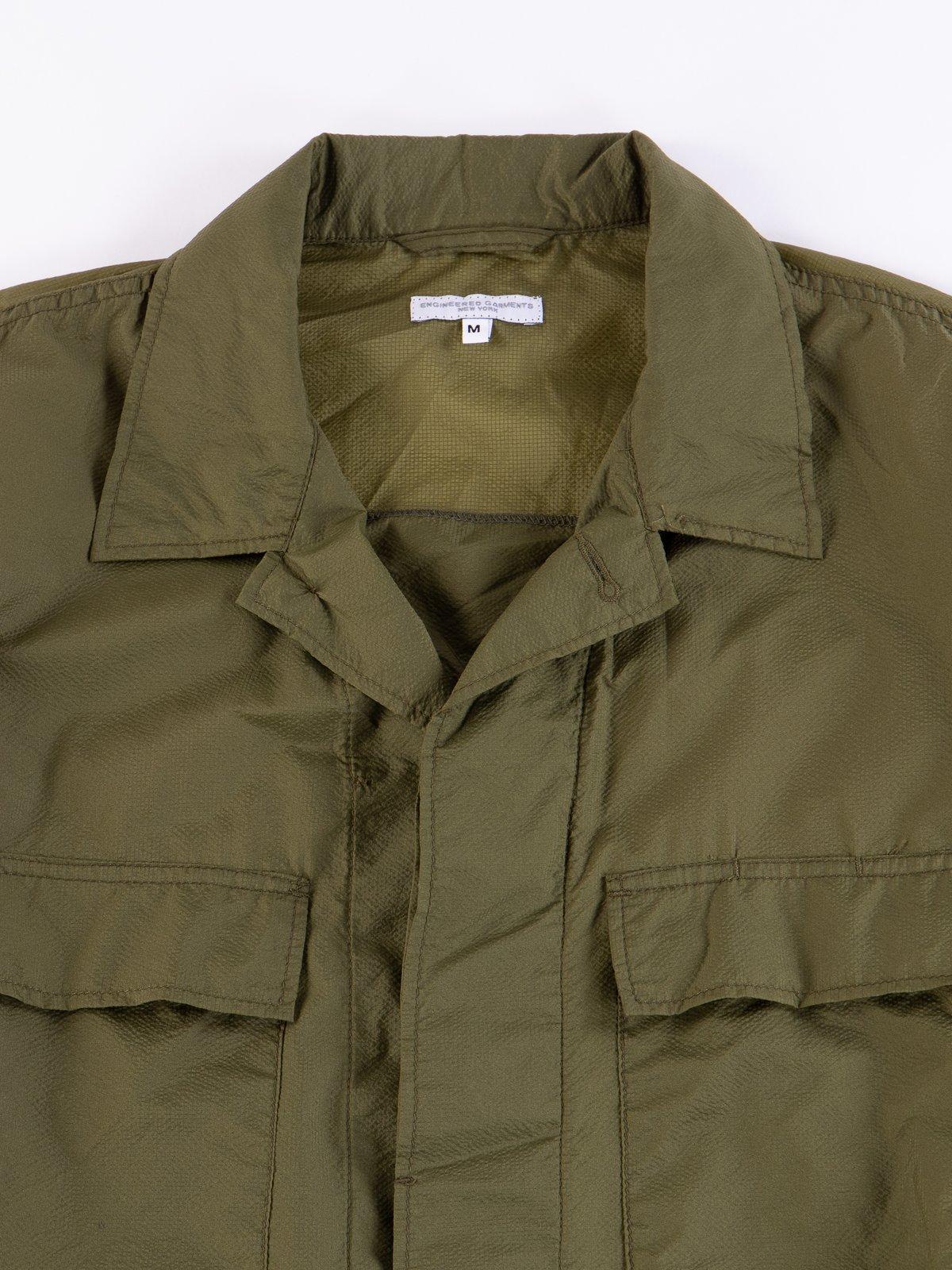 Olive Nylon Micro Ripstop BDU Jacket - Image 3