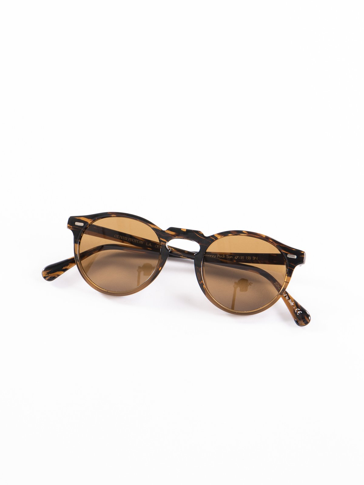 Tortoise/Brown Gregory Peck Sunglasses - Image 1