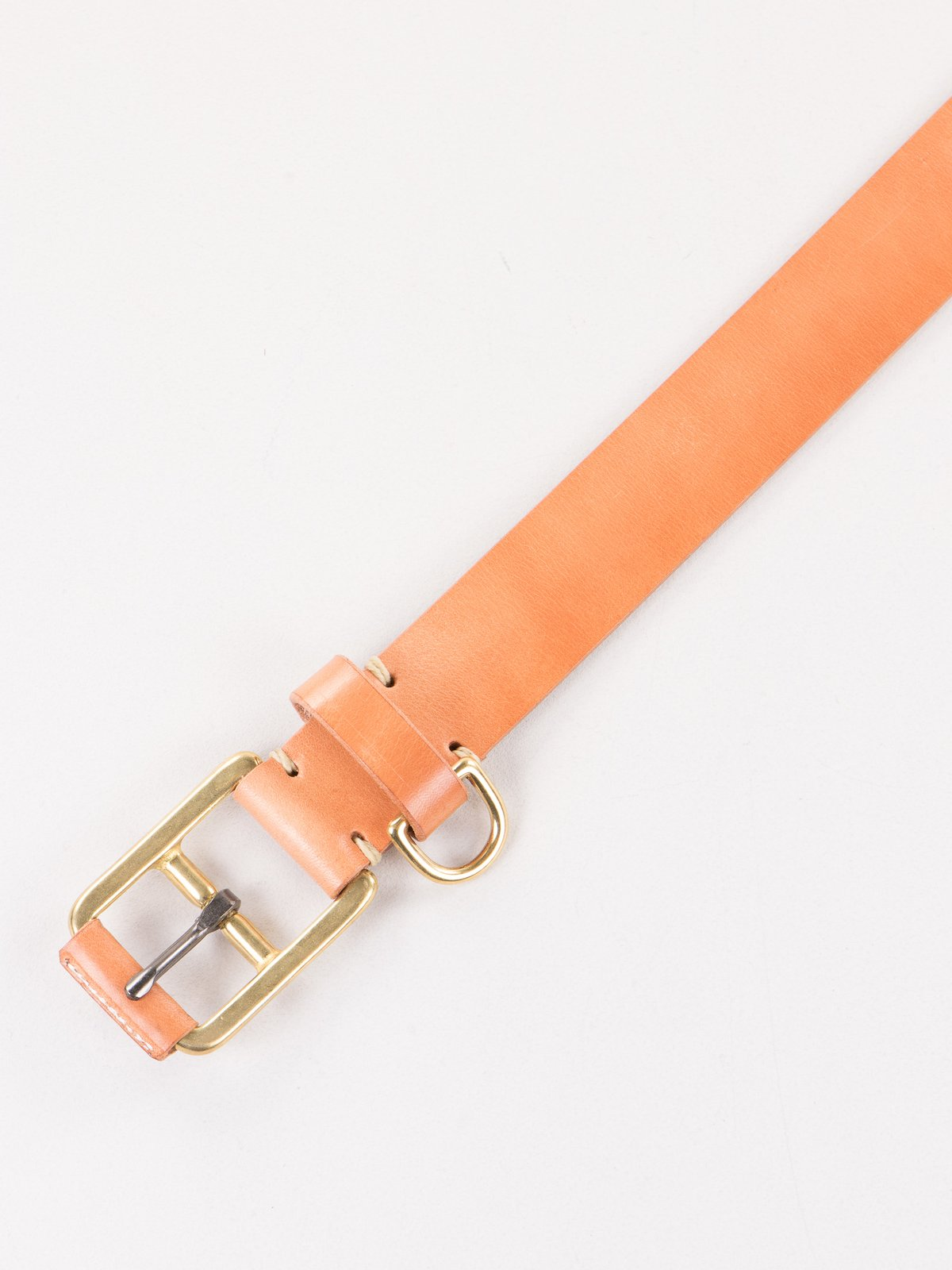 Russet Stitched D–Ring Belt - Image 2