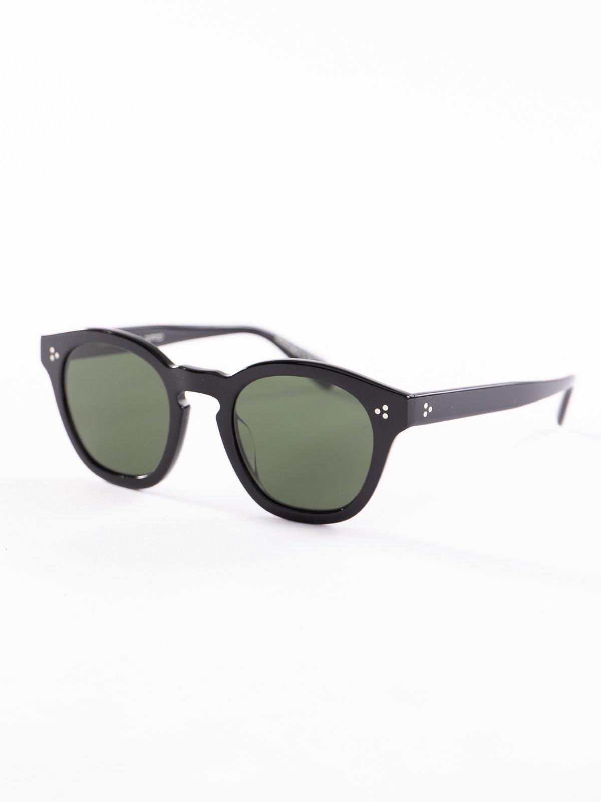Black/Dark Green Boudreau LA Sunglasses - Image 2