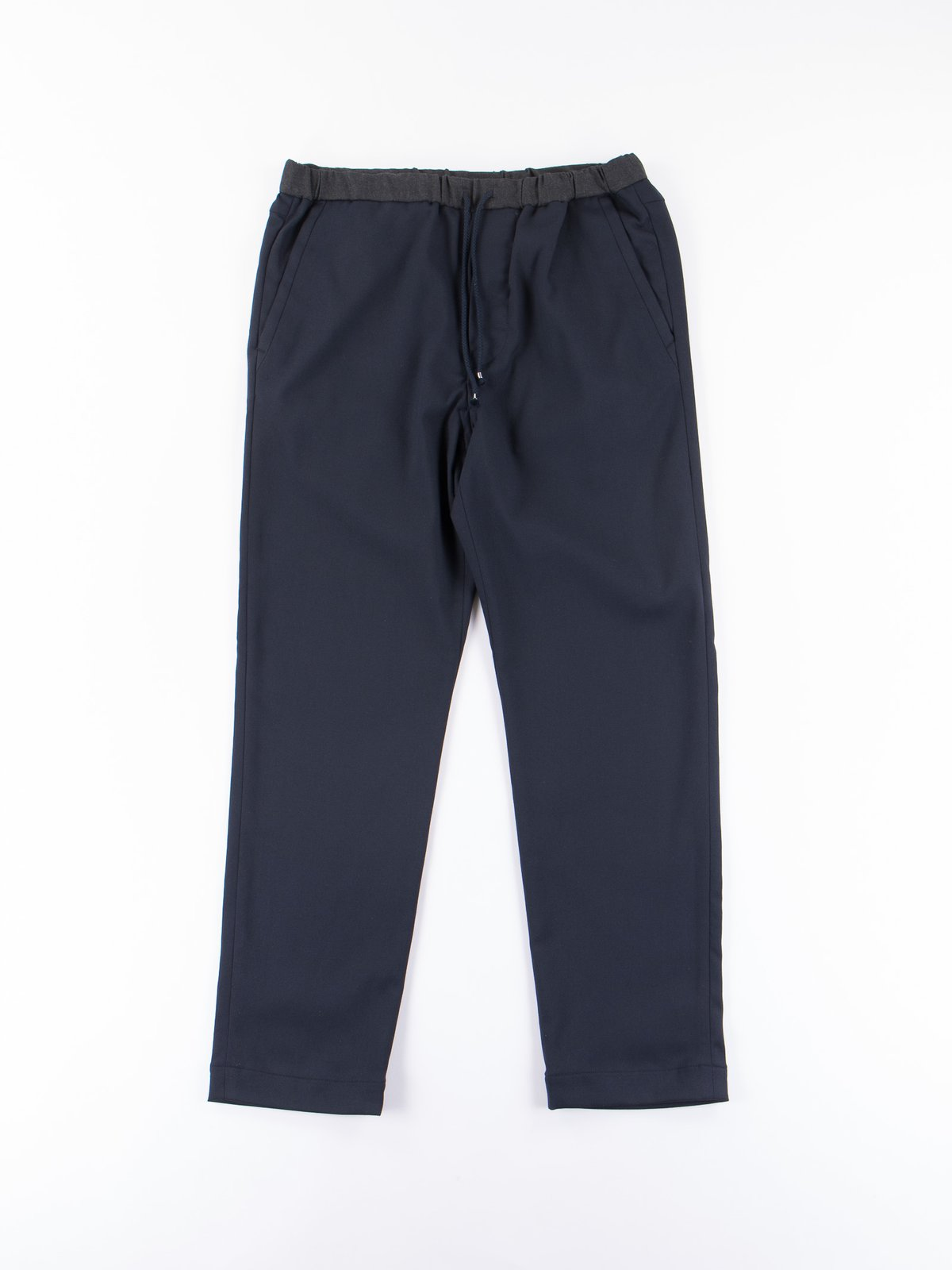 Dark Navy Slim Easy Slacks - Image 1
