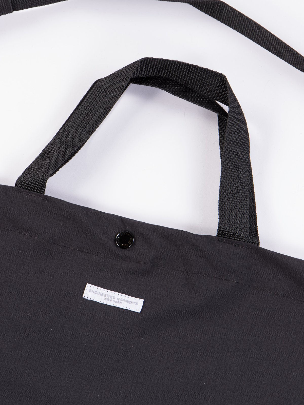 Black Tech Cotton Ripstop Carry All Tote - Image 2