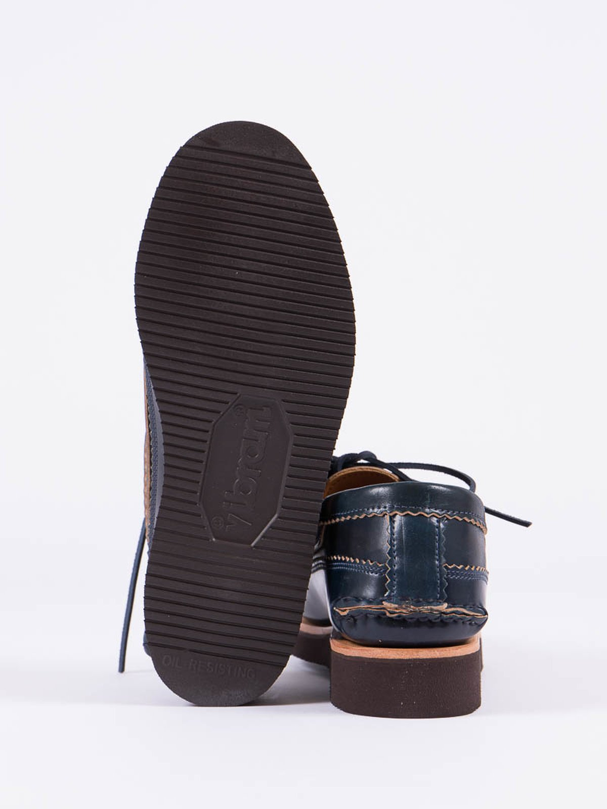 Navy Cordovan Ghillie Moc DB Shoe Exclusive - Image 4
