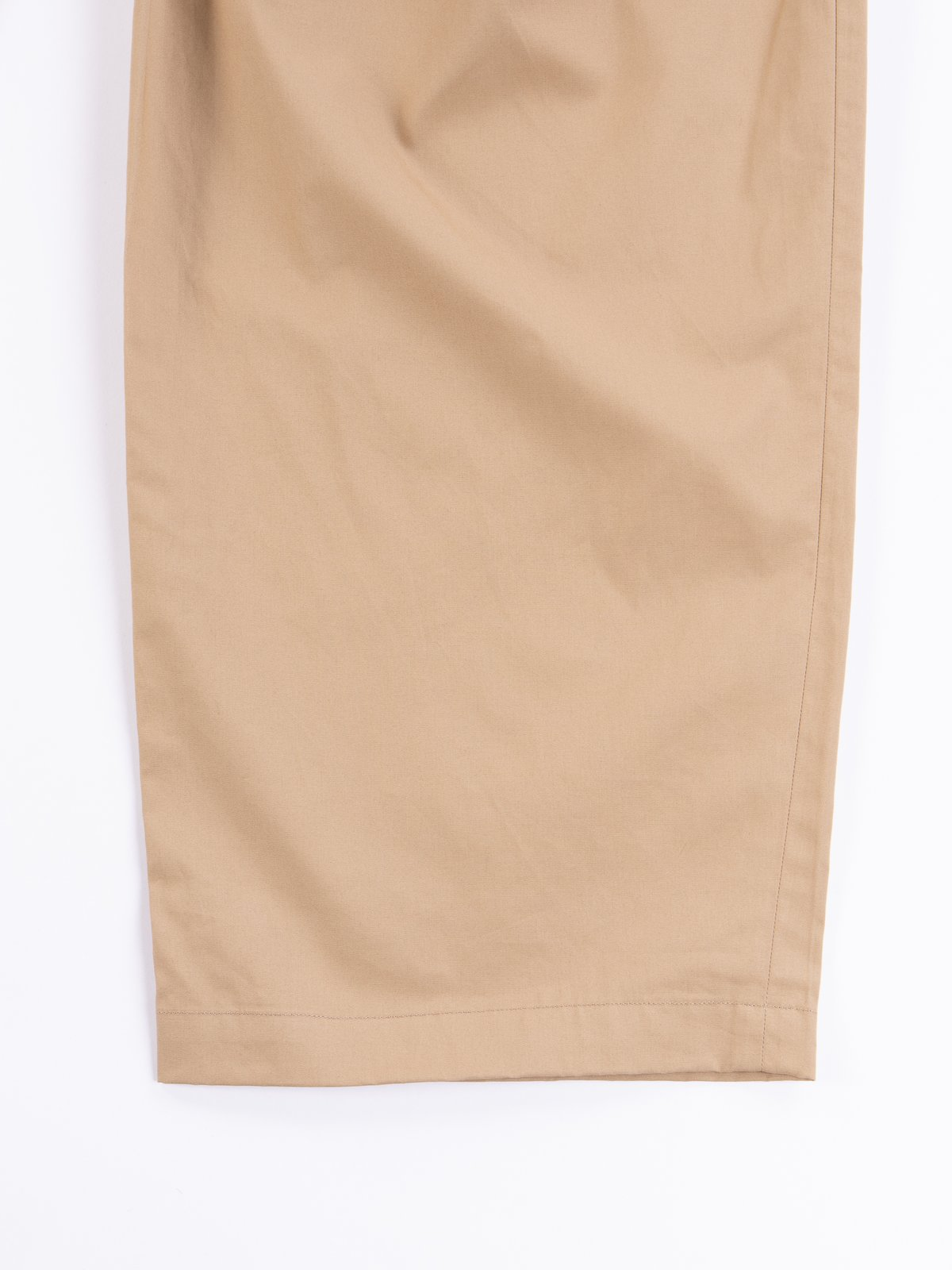 Khaki Oxford Vancloth Triple Tuck Wide Pant - Image 4