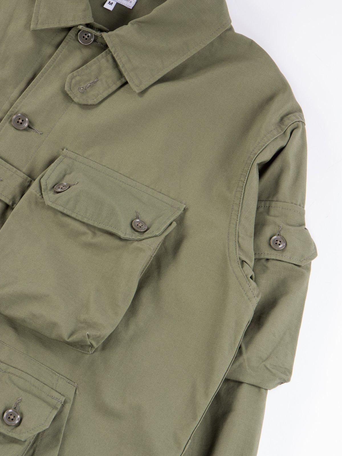 Olive Cotton Ripstop Explorer Shirt Jacket - Image 5