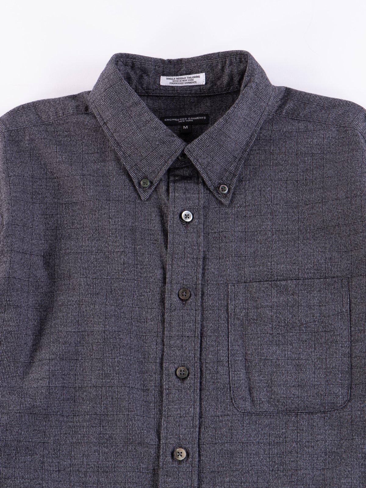 Grey Cotton Glen Plaid 19th Century BD Shirt - Image 3