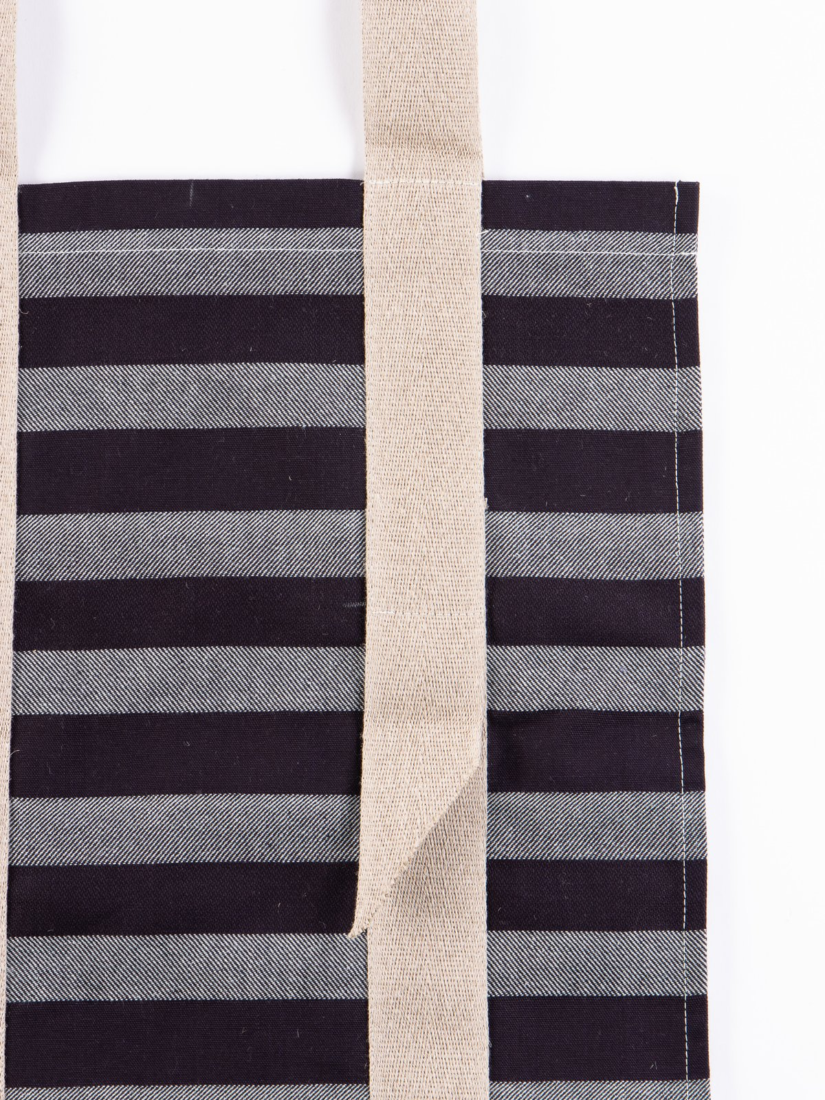 Bold Indigo Weaver's Blanket Stripe One–Strap Tote Bag - Image 3