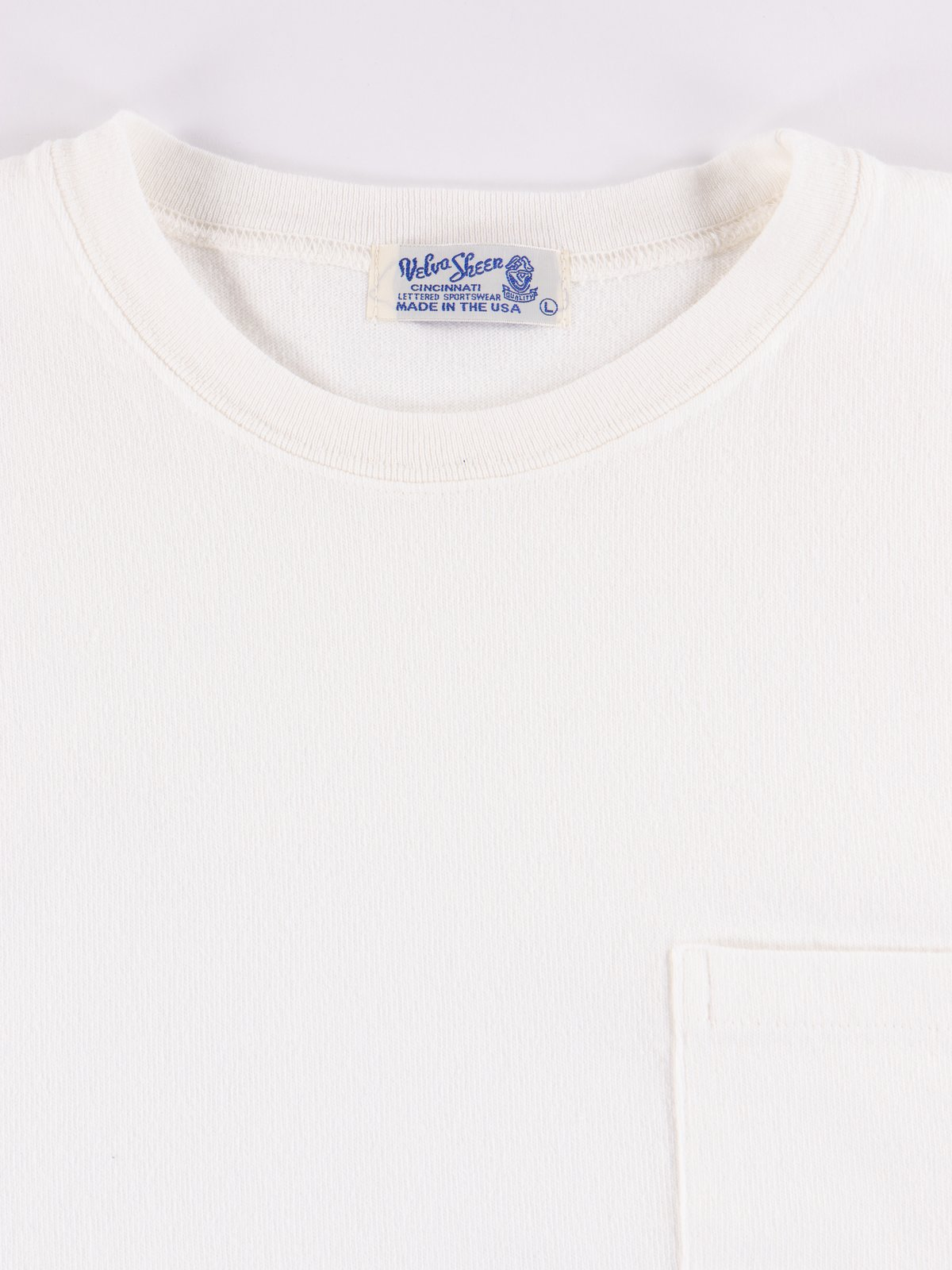 White Heavy Oz Pocket Tee - Image 2
