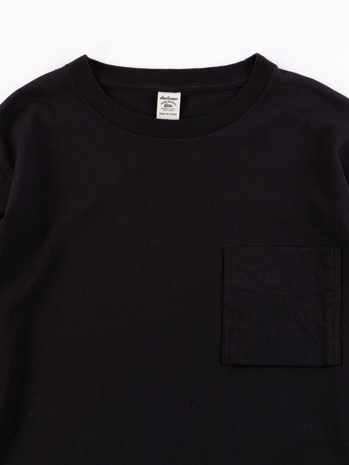 Black Long Sleeve Pocket T–Shirt - Image 3