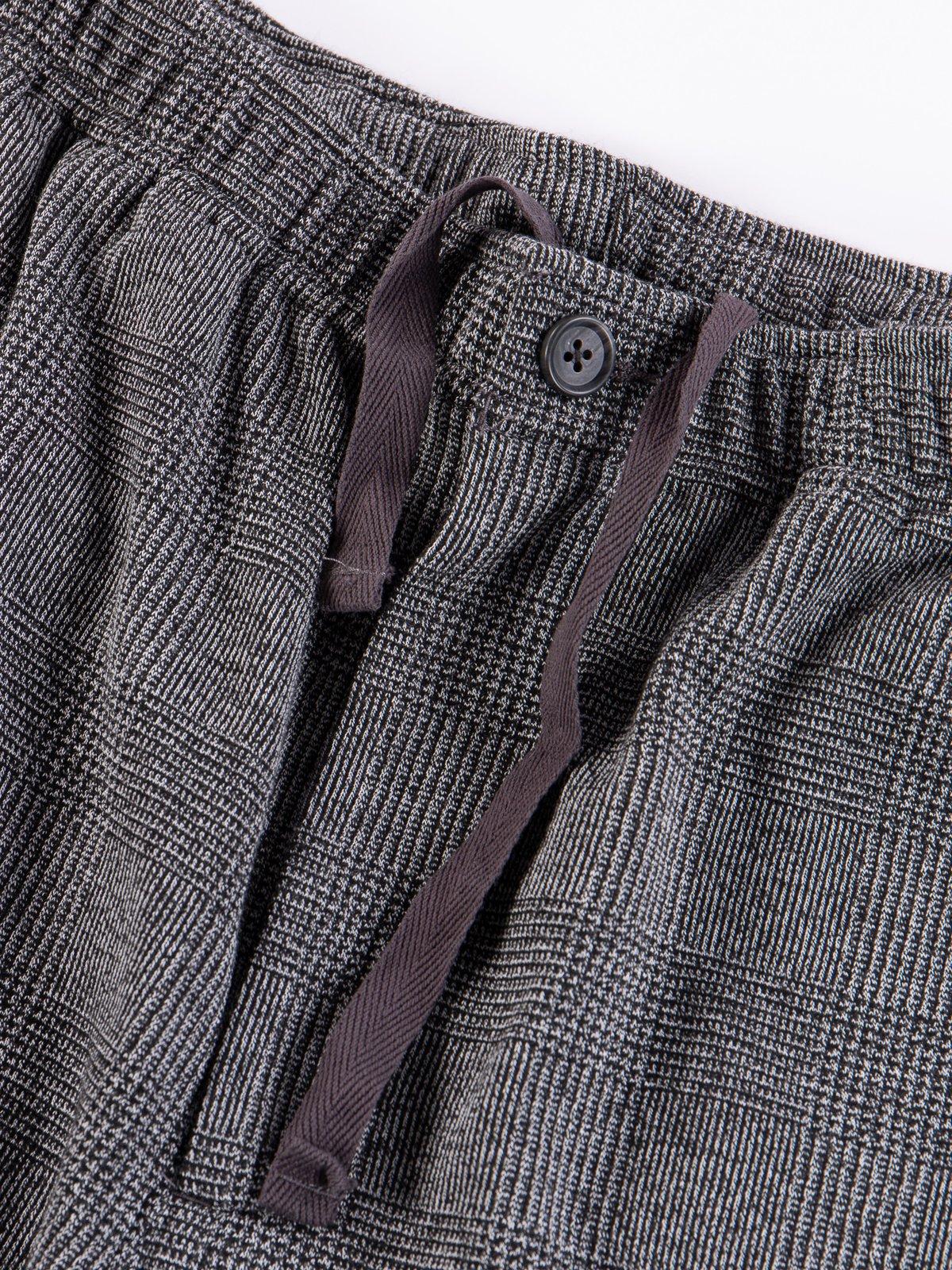 Grey PC Knit Glen Plaid Jog Pant - Image 6