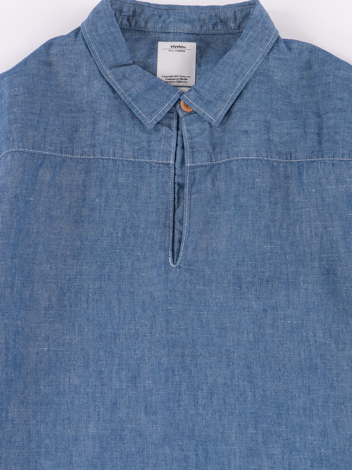 Blue Chambray Kerchief Tunic Shirt - Image 2