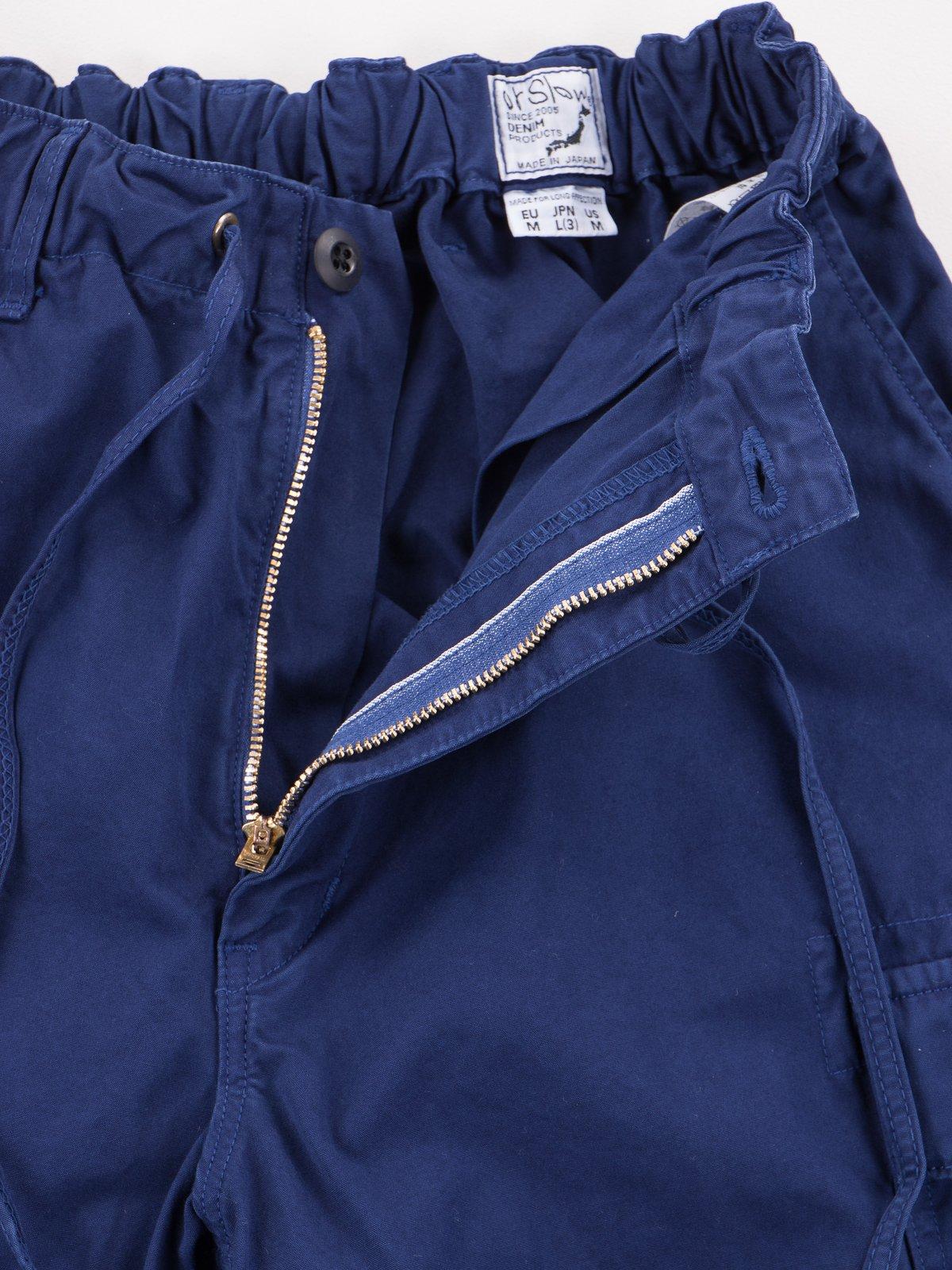 Ink Blue Poplin Easy Cargo Pant - Image 7