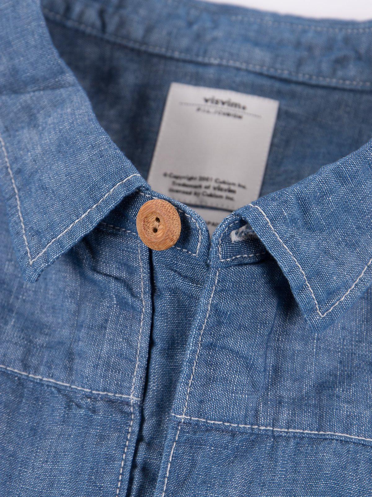 Blue Chambray Kerchief Tunic Shirt - Image 4