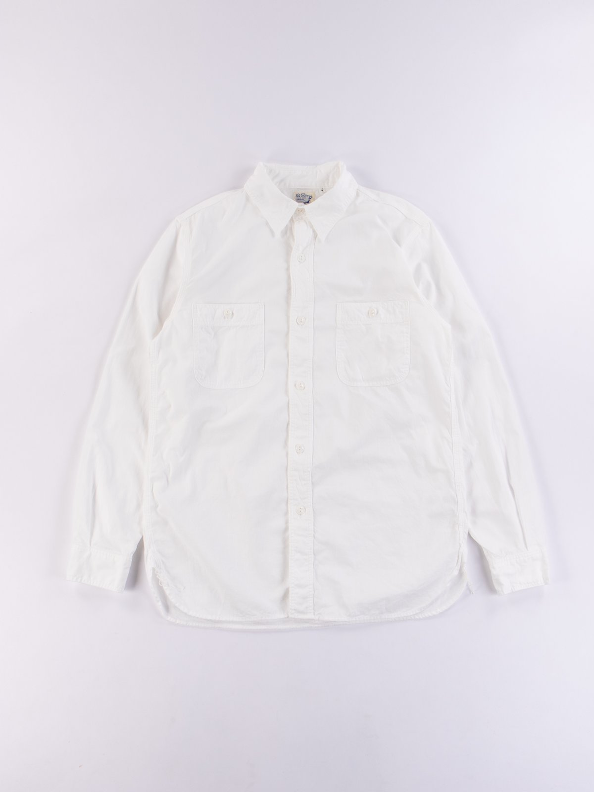 White Chambray Work Shirt - Image 1