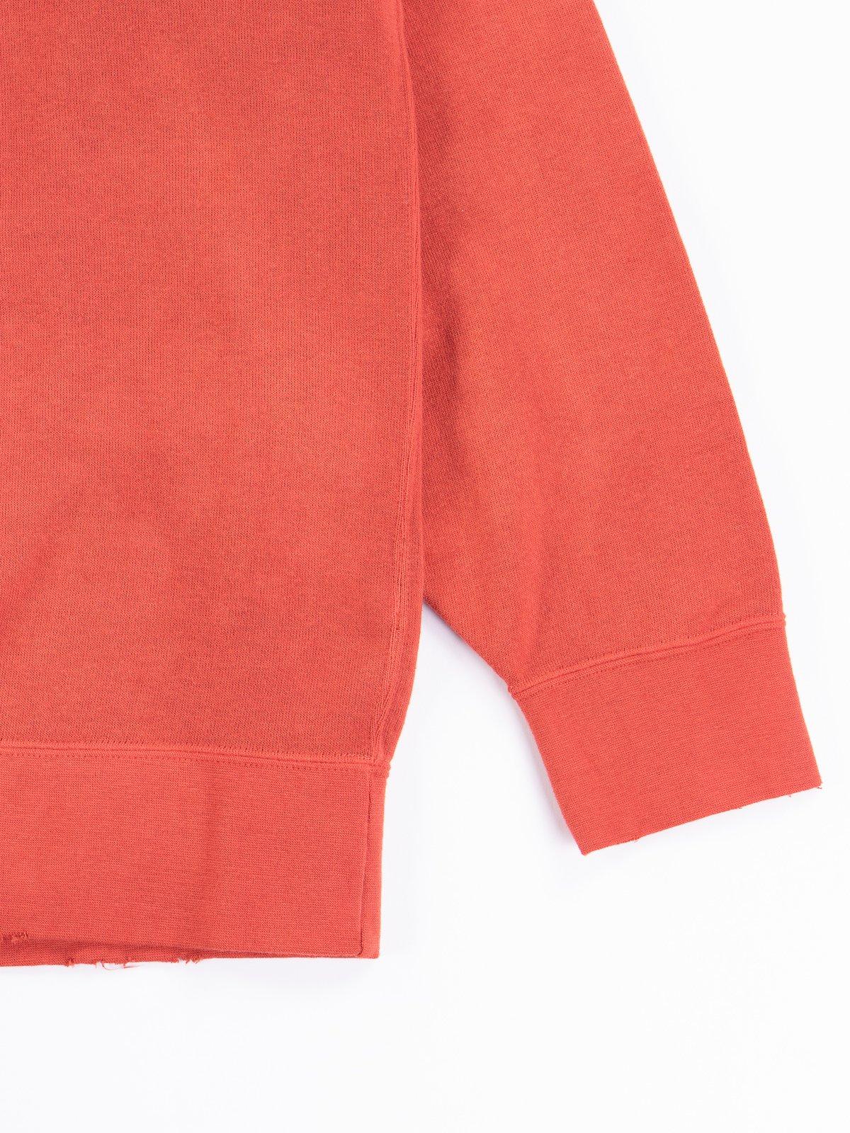 Red Uneven Dye Jumbo Long Sleeve Sweatshirt - Image 2