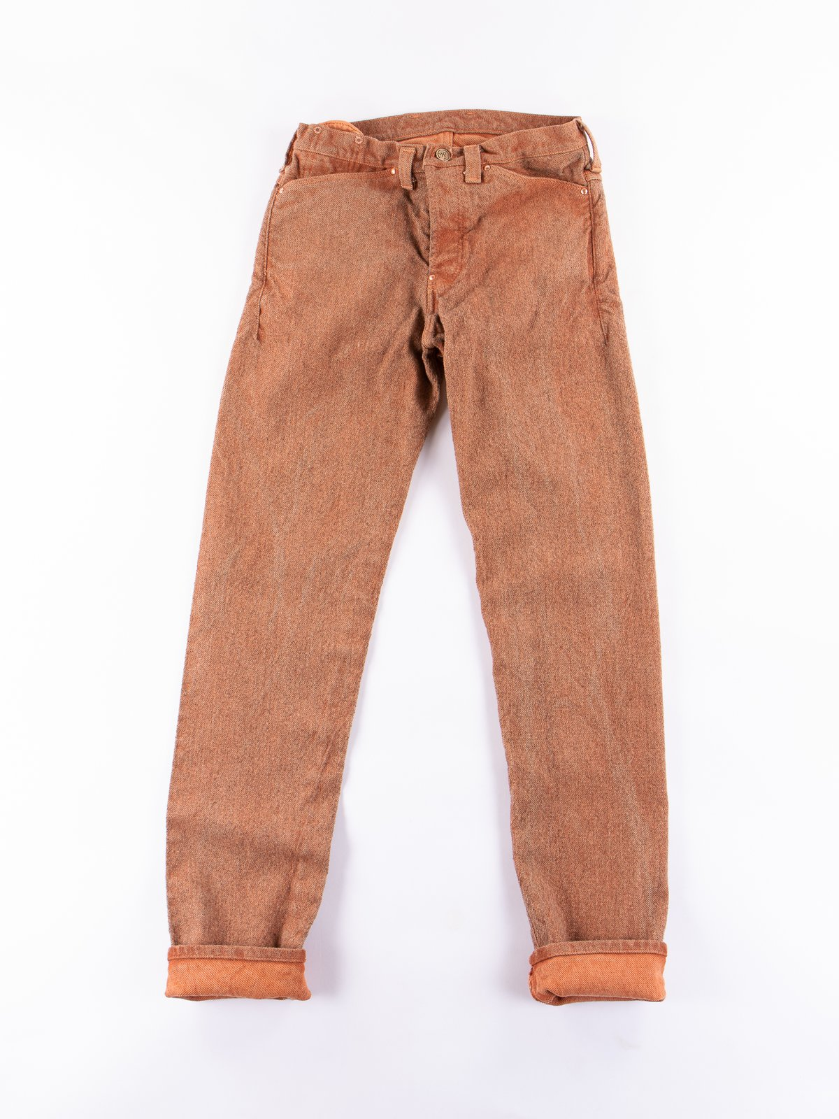 Red Ochre Dye Tapered Jean - Image 1