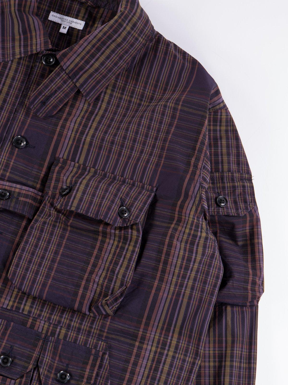 Multi Color Nyco Plaid Explorer Shirt Jacket - Image 4