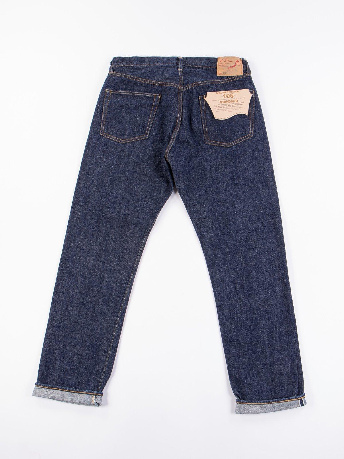 Indigo One Wash 105 Standard 5 Pocket Jean - Image 8