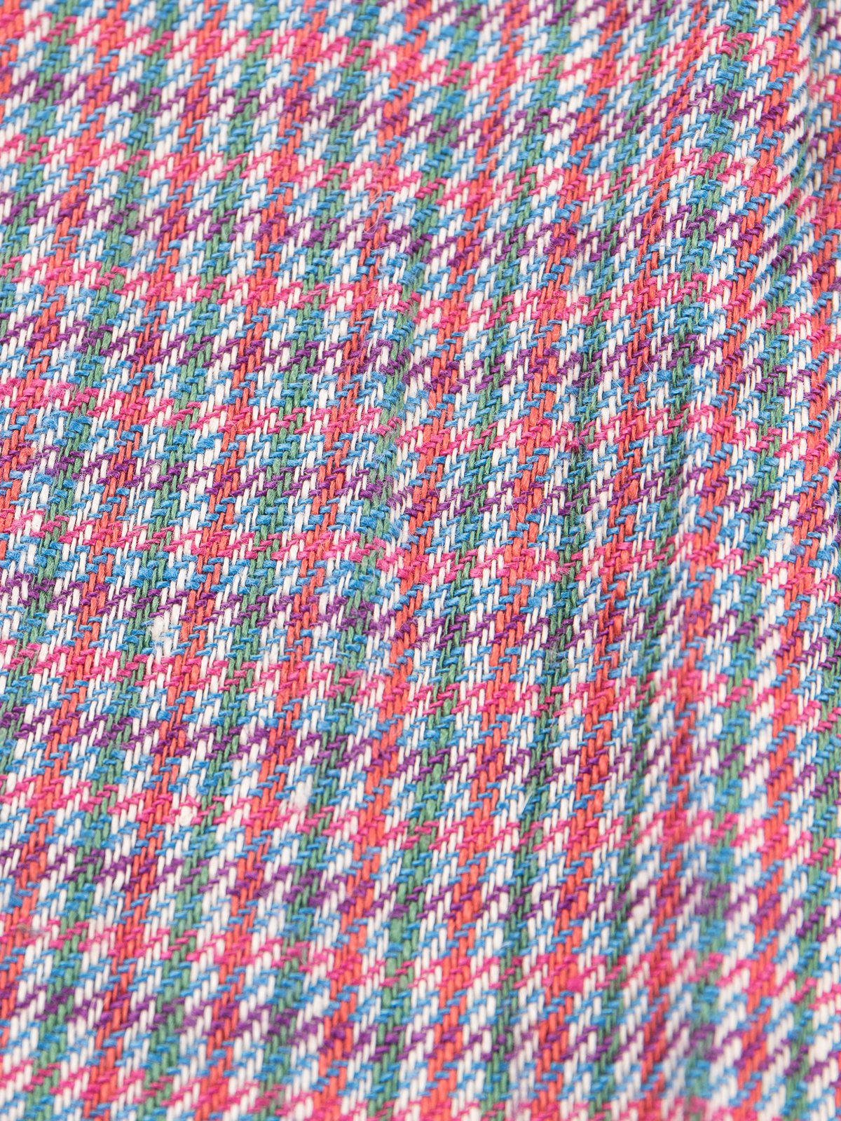 Red/Green Check Linen Neck Scarf - Image 4