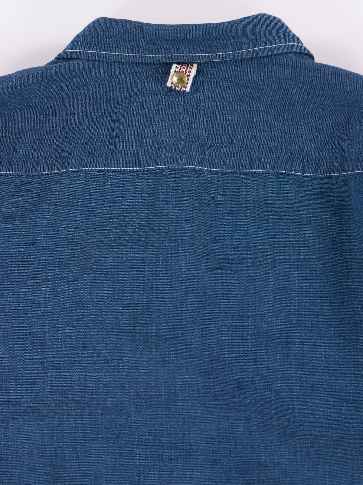 Navy Chambray Kerchief Tunic Shirt - Image 5