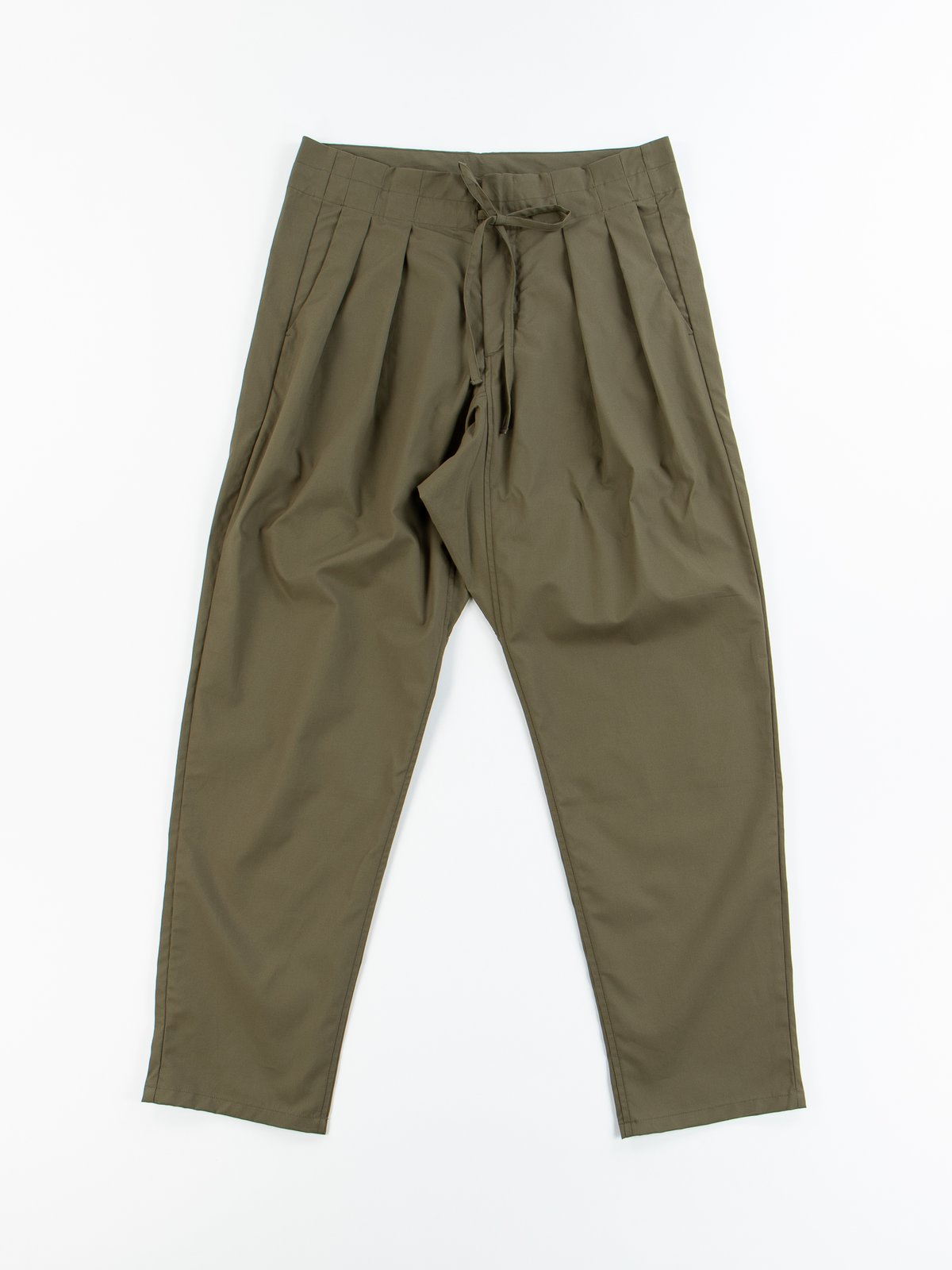 Olive Oxford Vancloth Drop Crotch Pant - Image 1