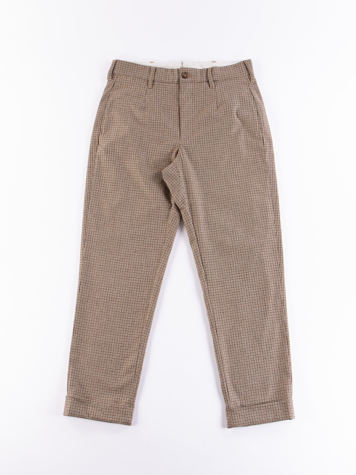 Brown Wool Poly Gunclub Check Andover Pant - Image 1