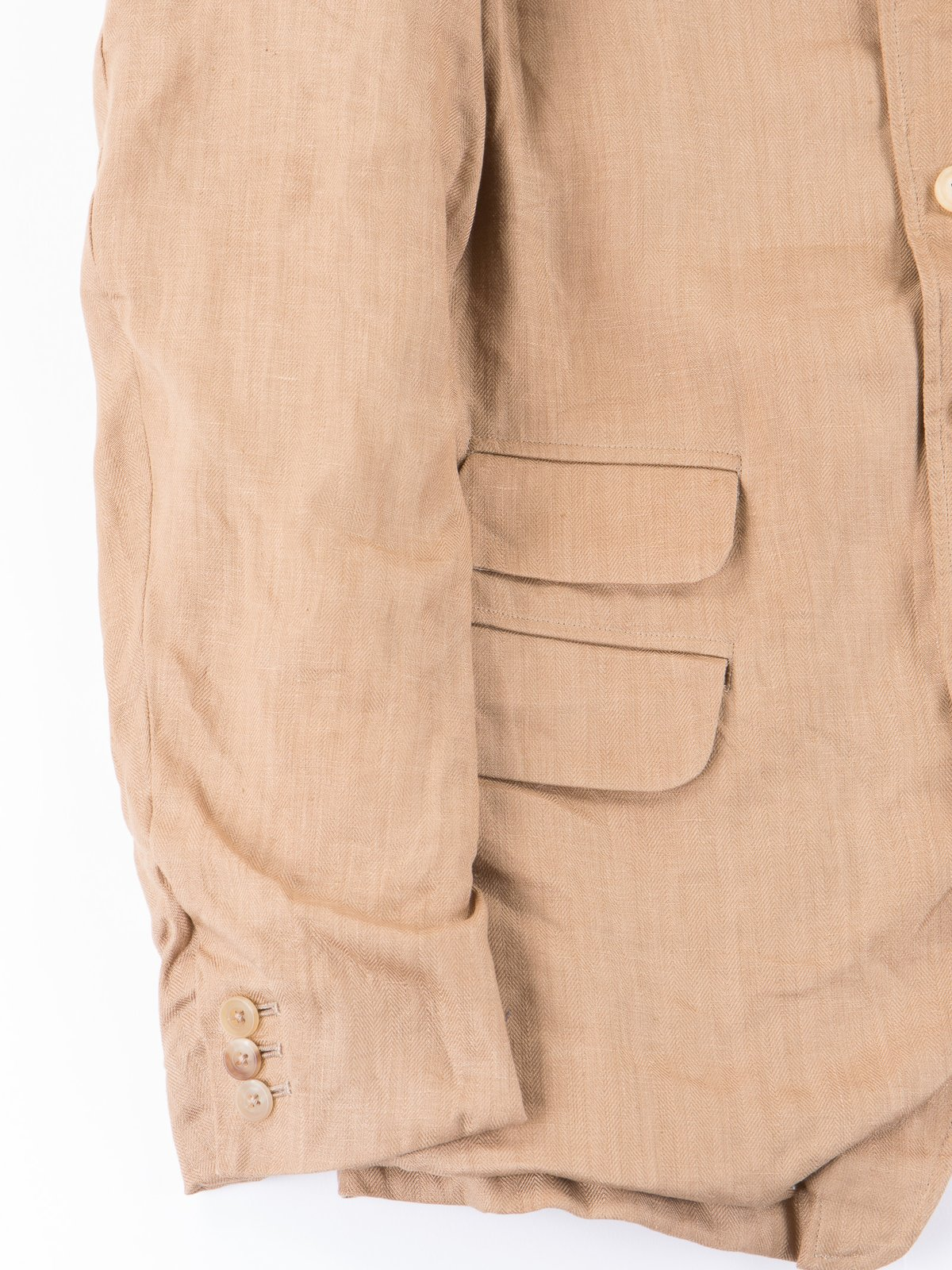 Beige Linen Old Potter Jacket - Image 3